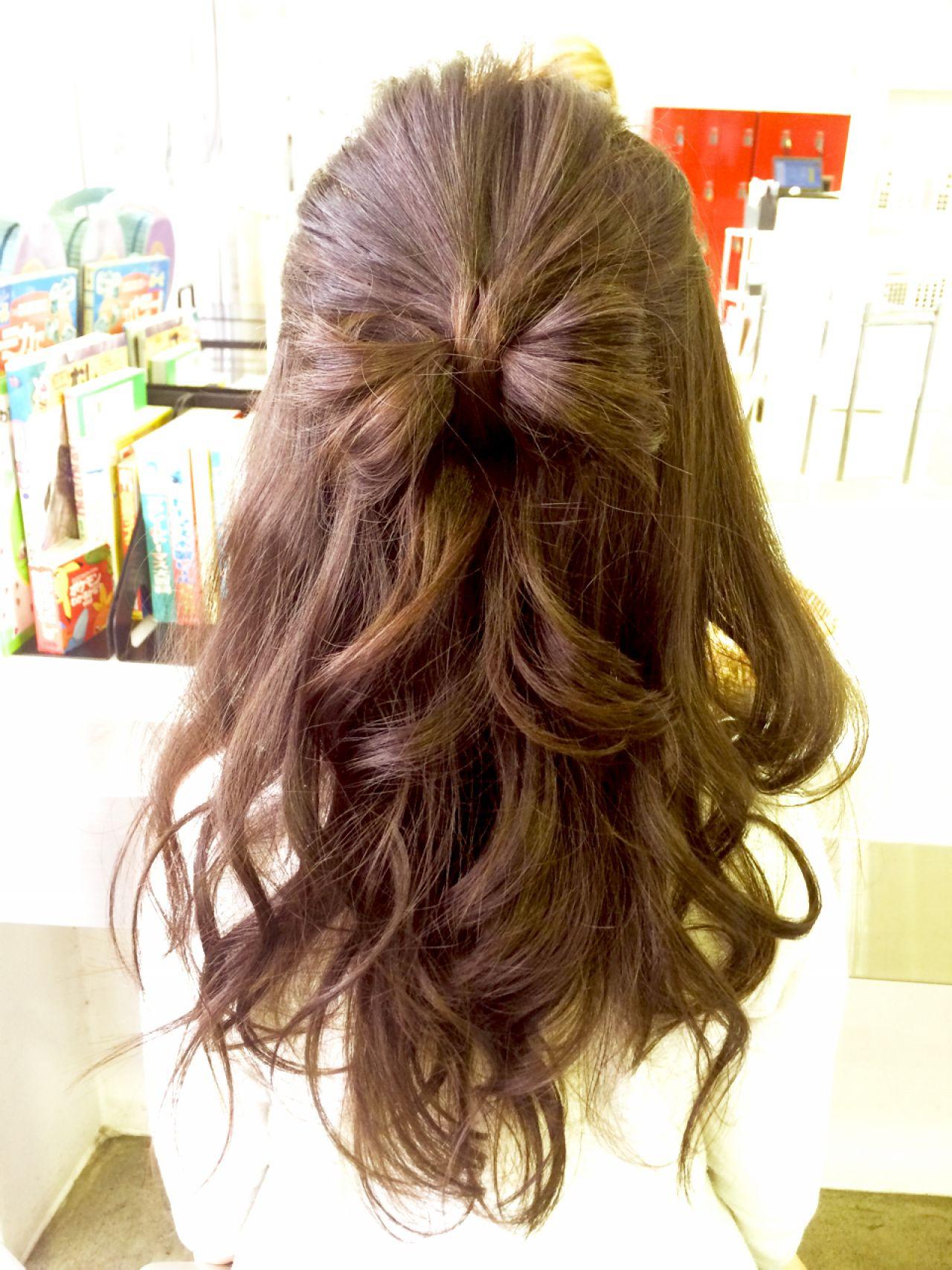 ヘアアレンジ コンサバ モテ髪 愛され ヘアスタイルや髪型の写真・画像