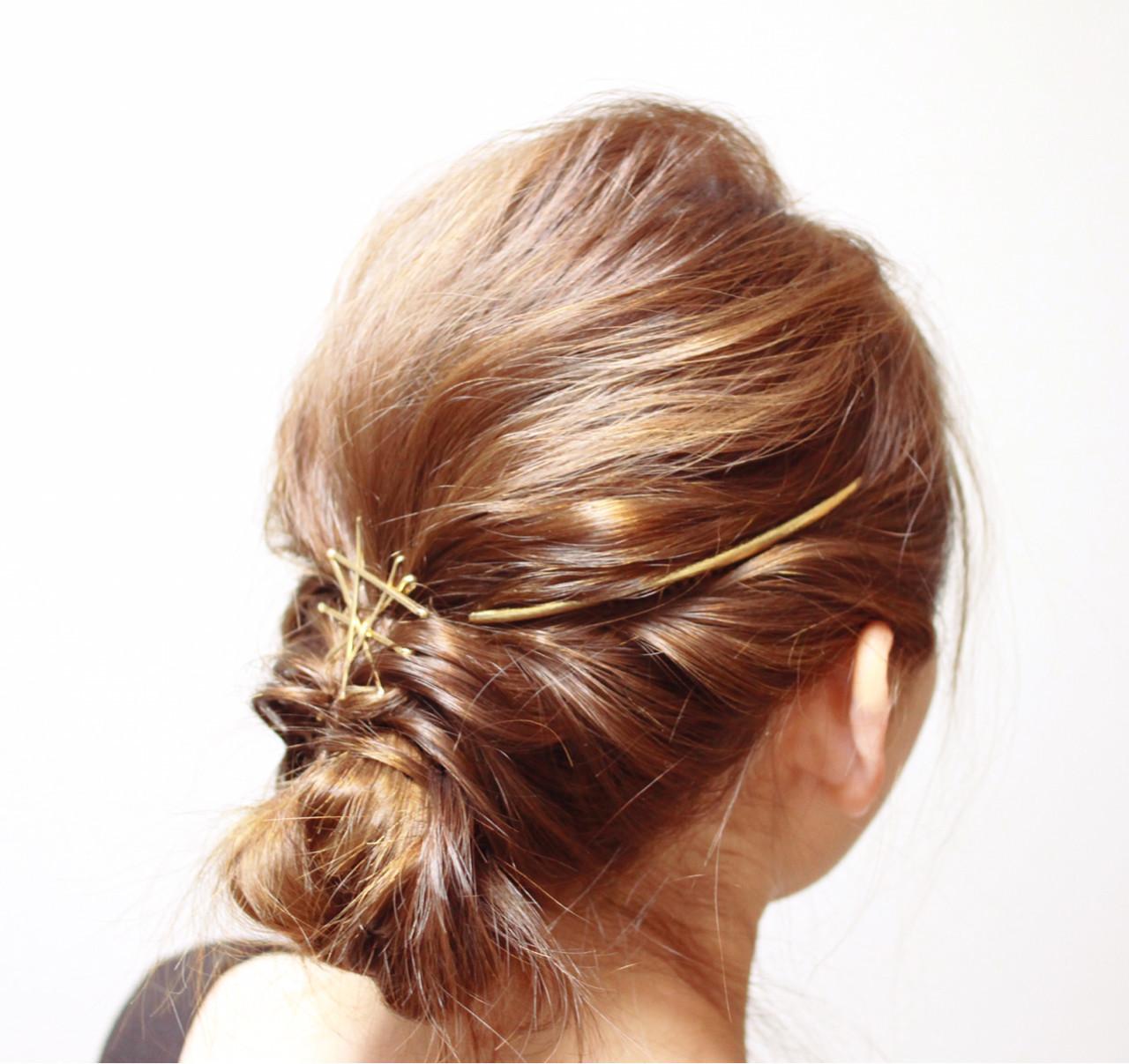 セミロング 外国人風 大人かわいい ロープ編み ヘアスタイルや髪型の写真・画像