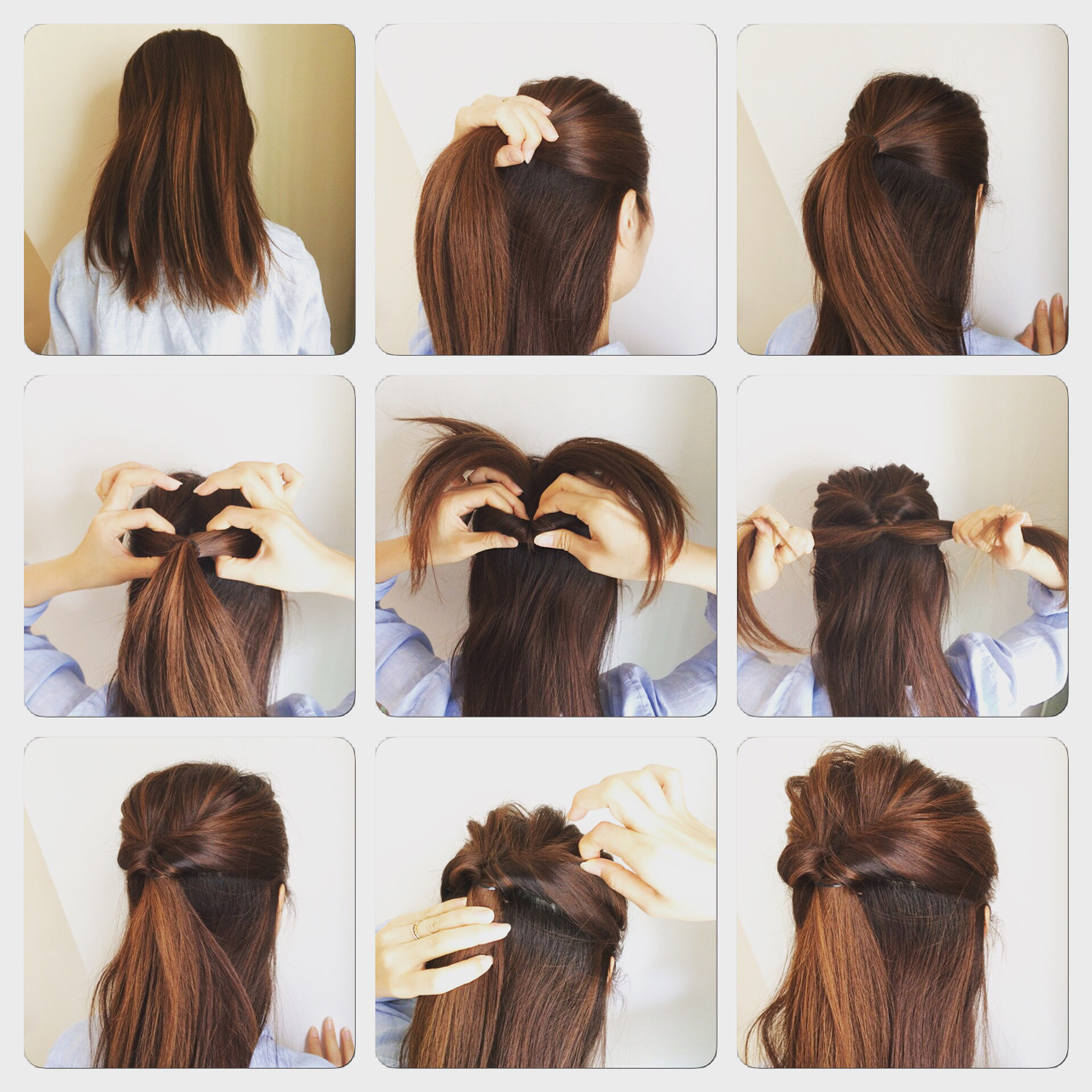 ポニーテール ヘアアレンジ 簡単ヘアアレンジ ショート ヘアスタイルや髪型の写真・画像