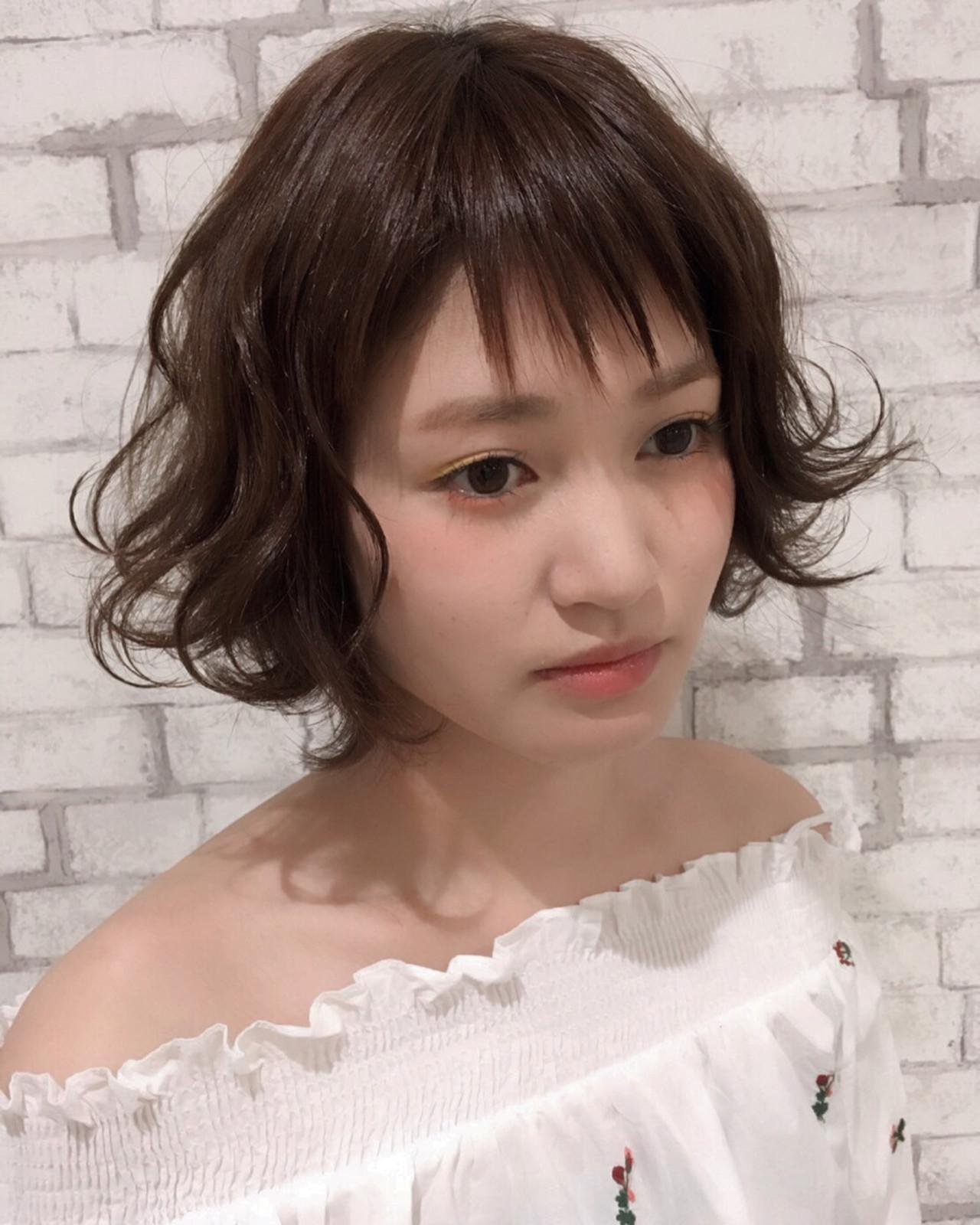 前髪あり レイヤーカット ショート 春 ヘアスタイルや髪型の写真・画像