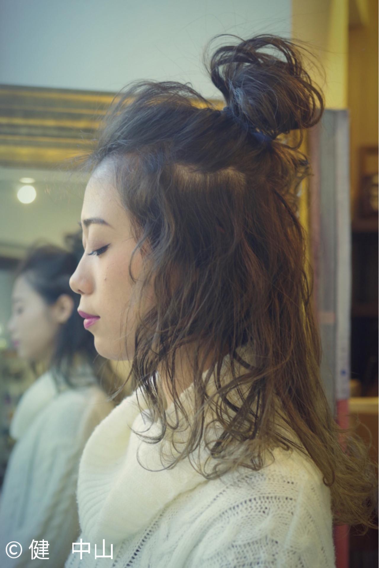 ヘアアレンジ 外国人風 大人かわいい グラデーションカラー ヘアスタイルや髪型の写真・画像