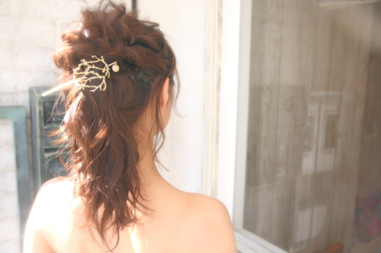 エレガント 上品 結婚式 ロング ヘアスタイルや髪型の写真・画像