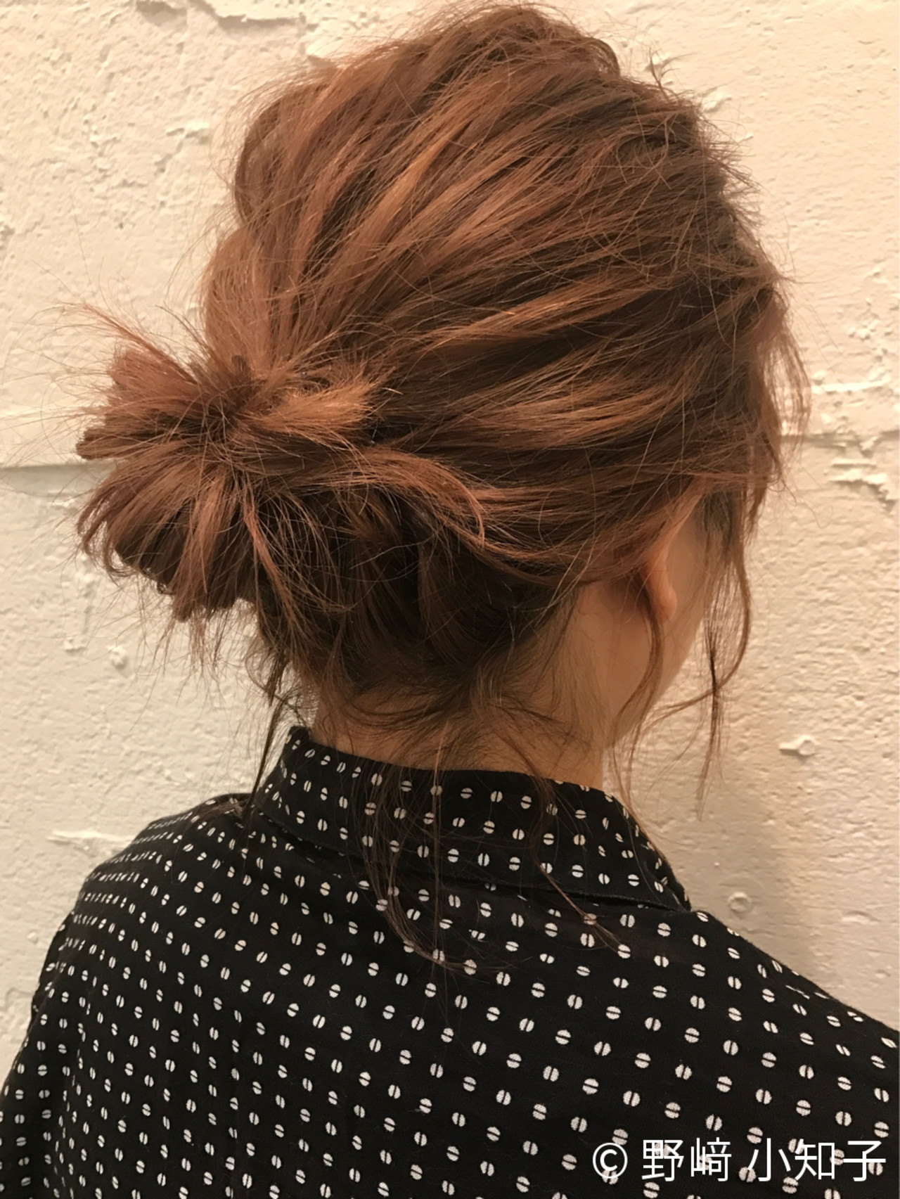 お団子 オフィス ショート コンサバ ヘアスタイルや髪型の写真・画像