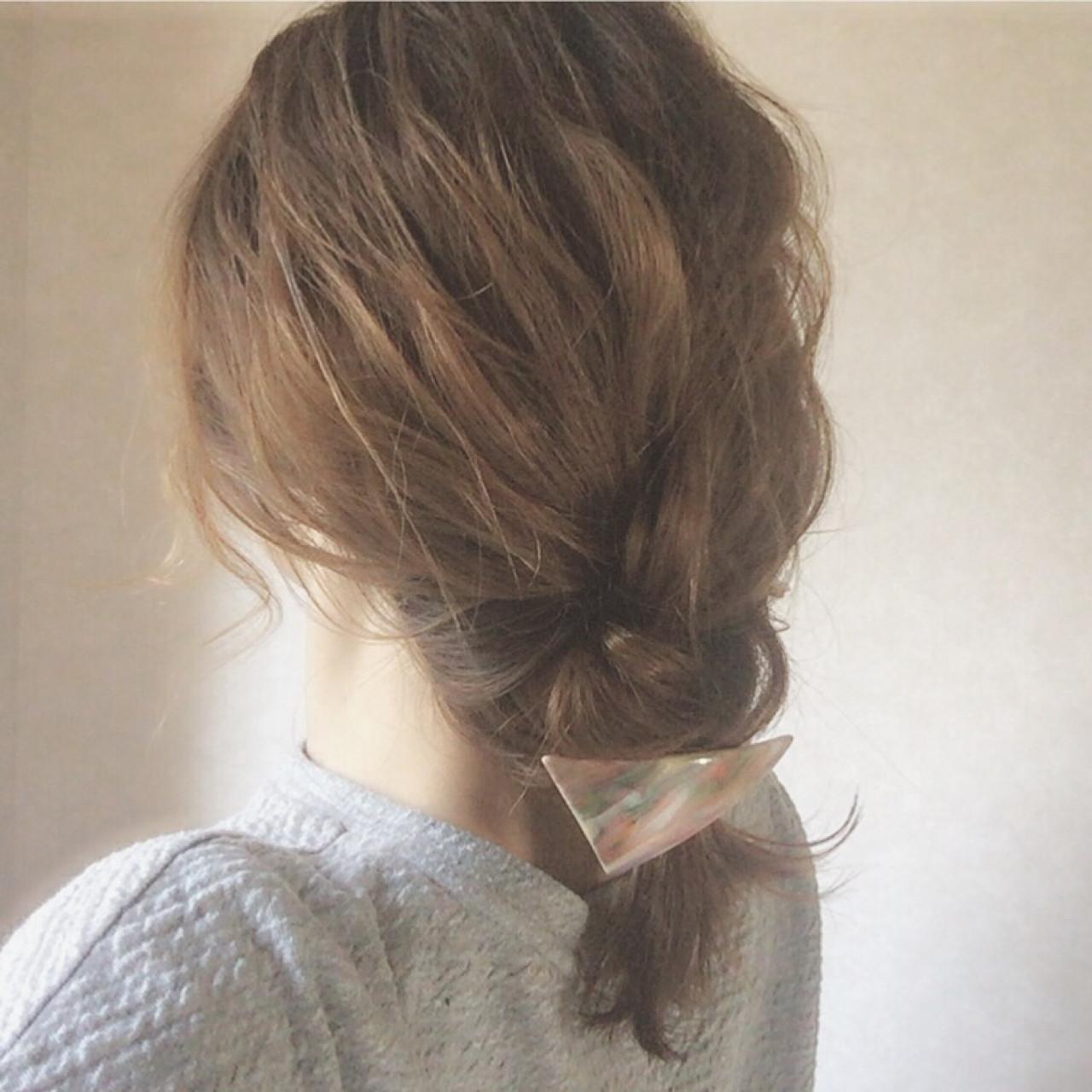 ボブでもできる簡単まとめ髪♡スッキリ可愛いアレンジを伝授 大西未紗 | HAIR LEAP
