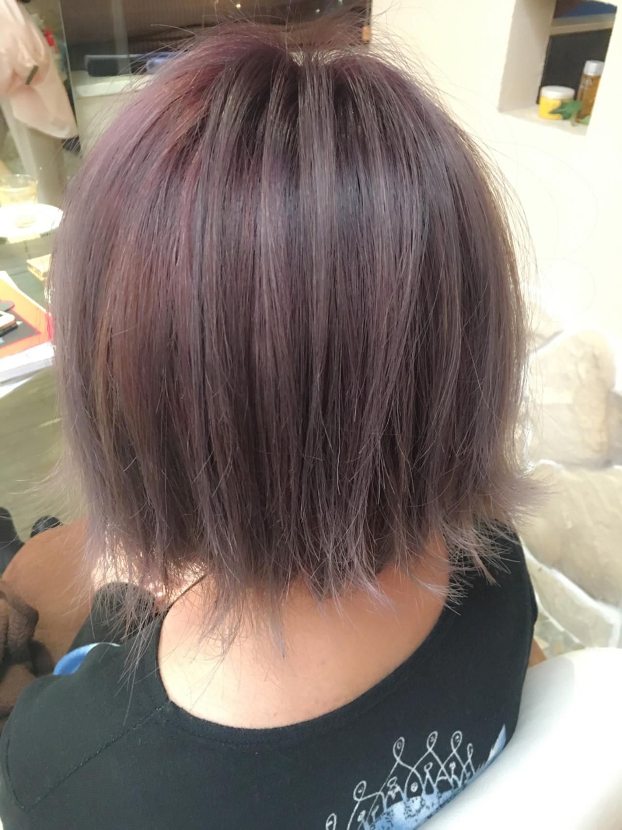 外国人風カラー ボブ グレージュ グレー ヘアスタイルや髪型の写真・画像