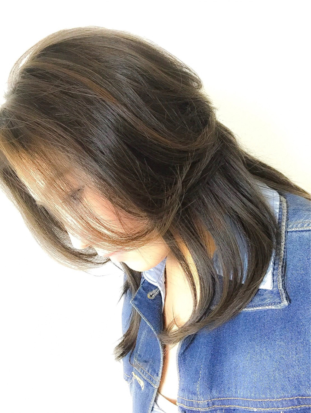 黒髪 エレガント 上品 イルミナカラー ヘアスタイルや髪型の写真・画像