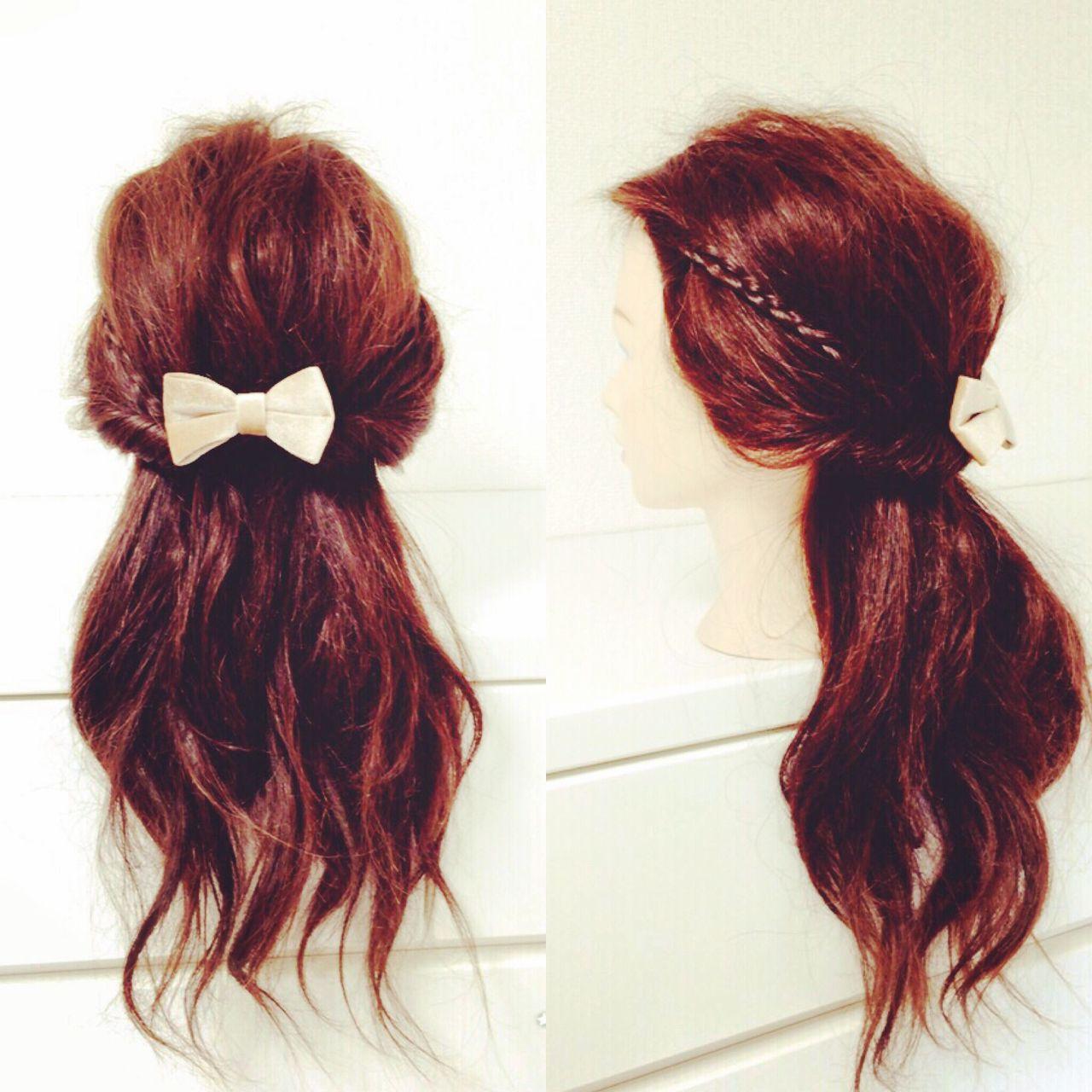 ヘアアレンジ 三つ編み 簡単ヘアアレンジ ショート ヘアスタイルや髪型の写真・画像