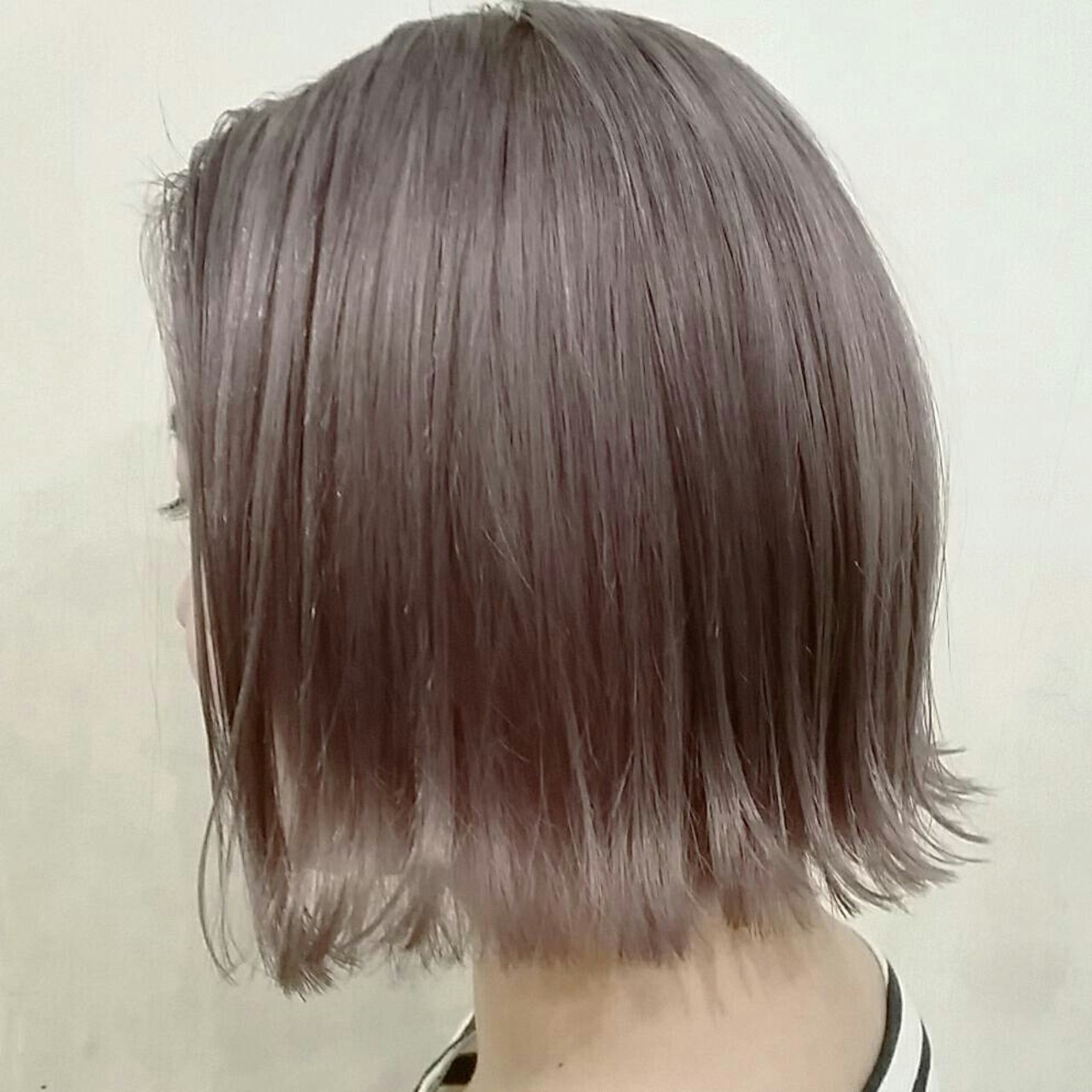春 モード ボブ アッシュグレージュ ヘアスタイルや髪型の写真・画像