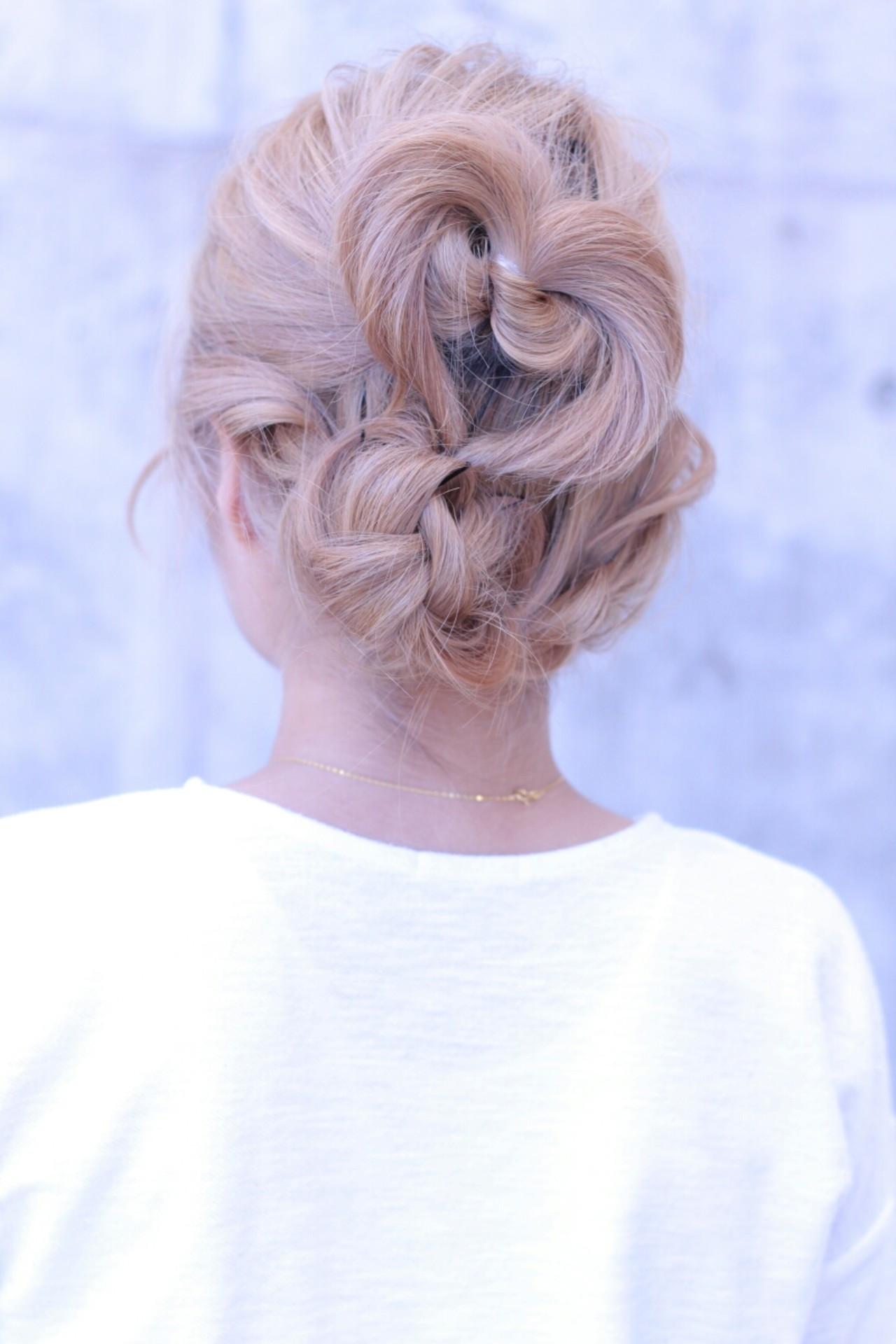 くるりんぱ 簡単ヘアアレンジ ヘアアレンジ ショート ヘアスタイルや髪型の写真・画像