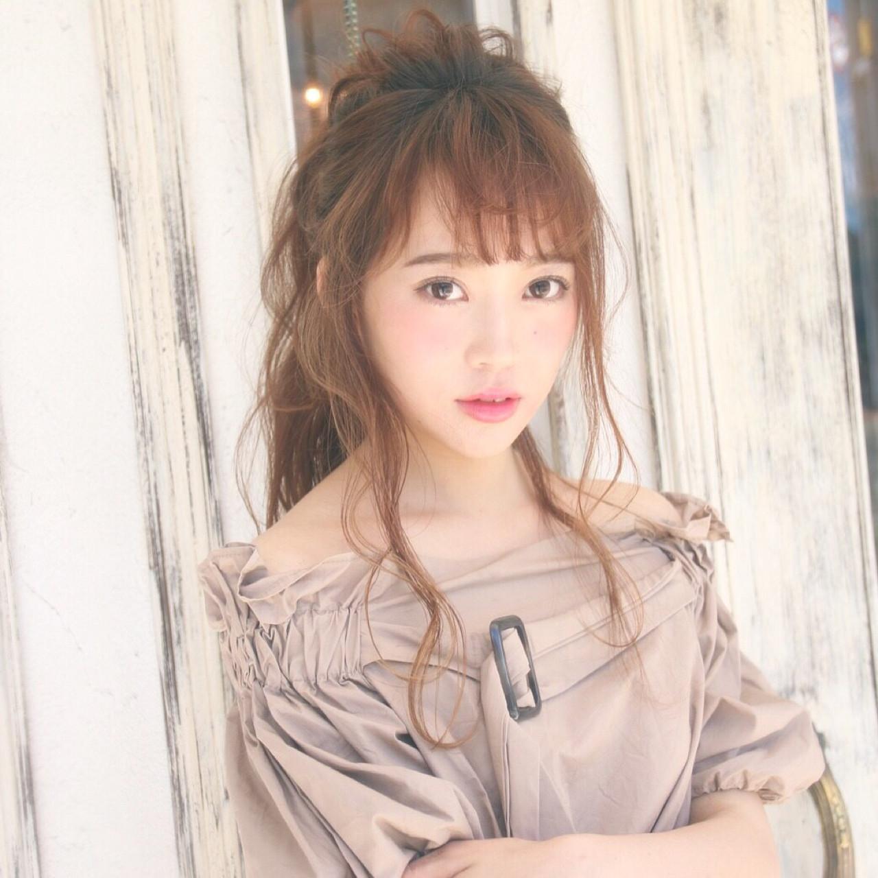 大人女子 大人かわいい エレガント ポニーテール ヘアスタイルや髪型の写真・画像