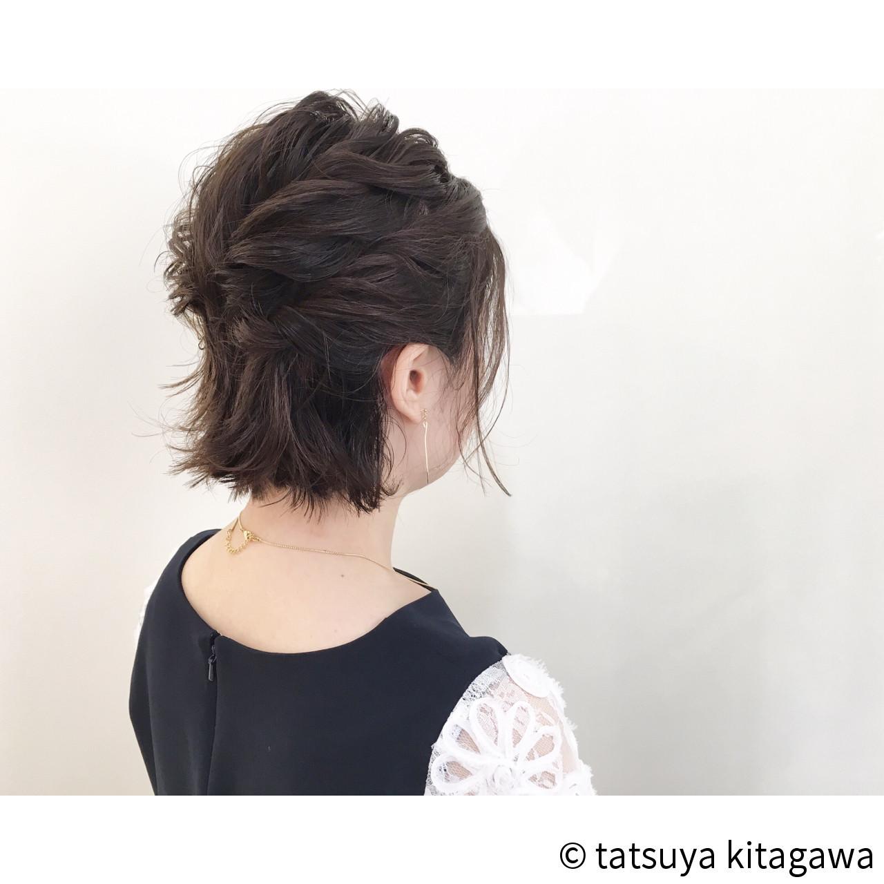 【結婚式髪型】ボブでもできる華やかアレンジ♪自分でもできるヘアセット tatsuya kitagawa