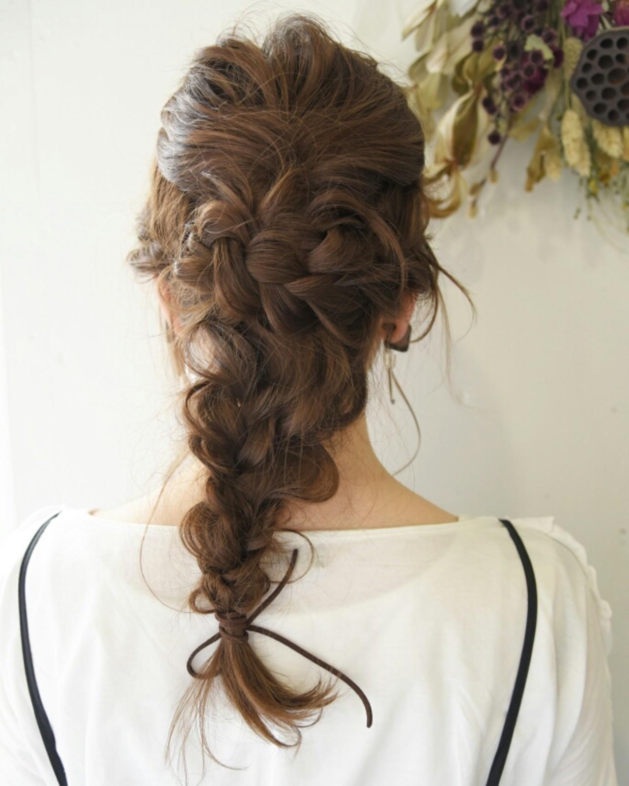 結婚式にしていきたい髪型NO.1♡簡単編み込みヘアアレンジ 山口