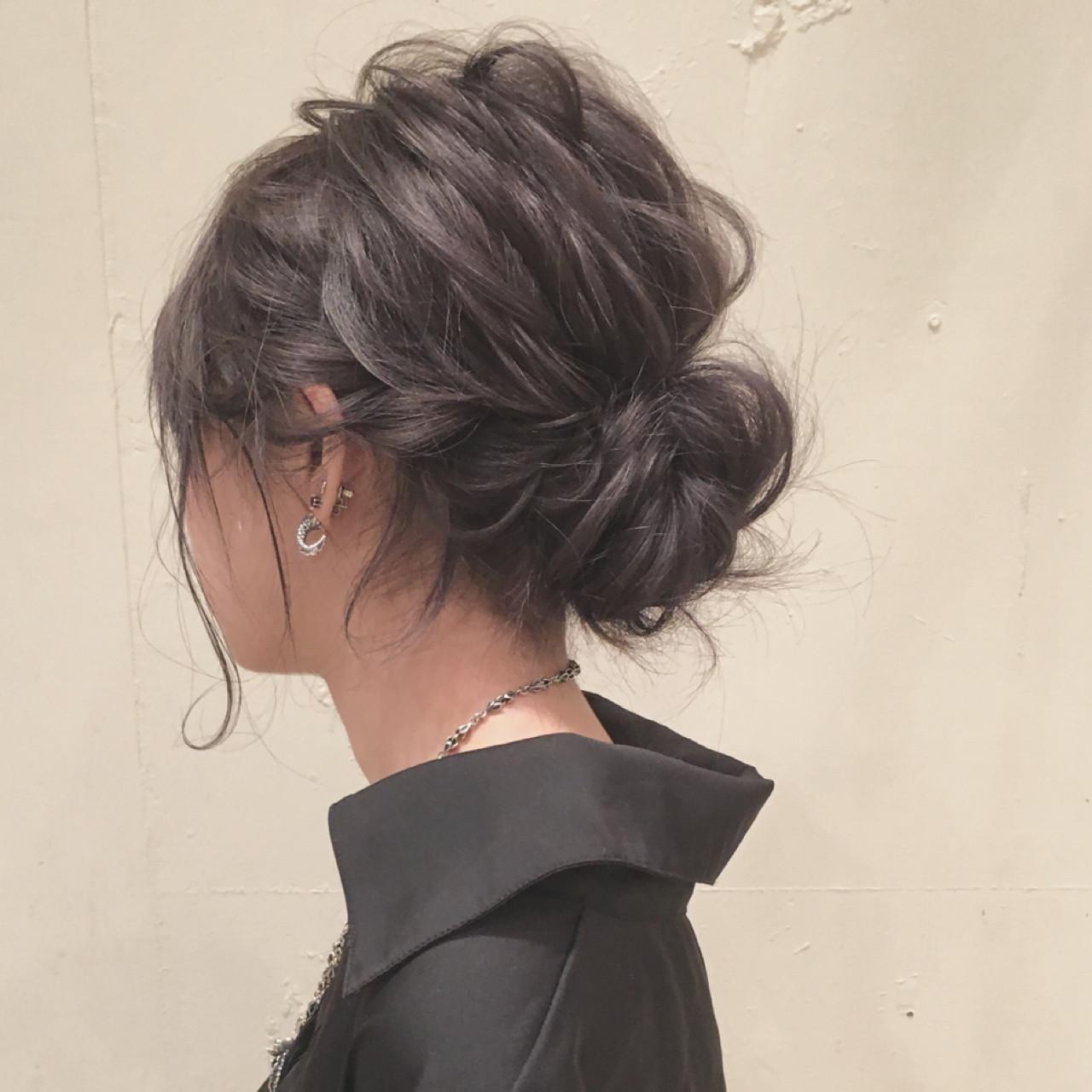 シニヨン ナチュラル 大人かわいい ロング ヘアスタイルや髪型の写真・画像