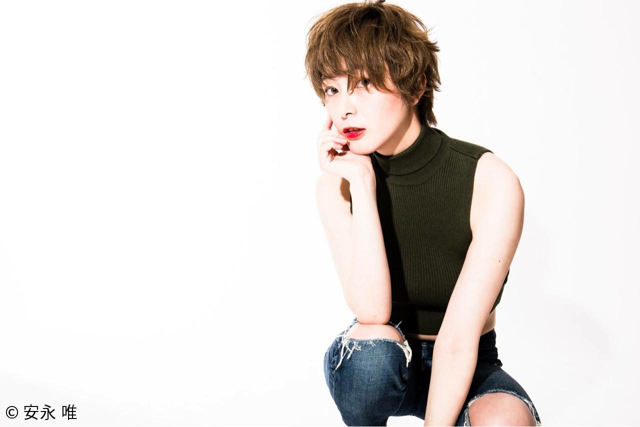 色気 ハイトーン ショート 外国人風 ヘアスタイルや髪型の写真・画像