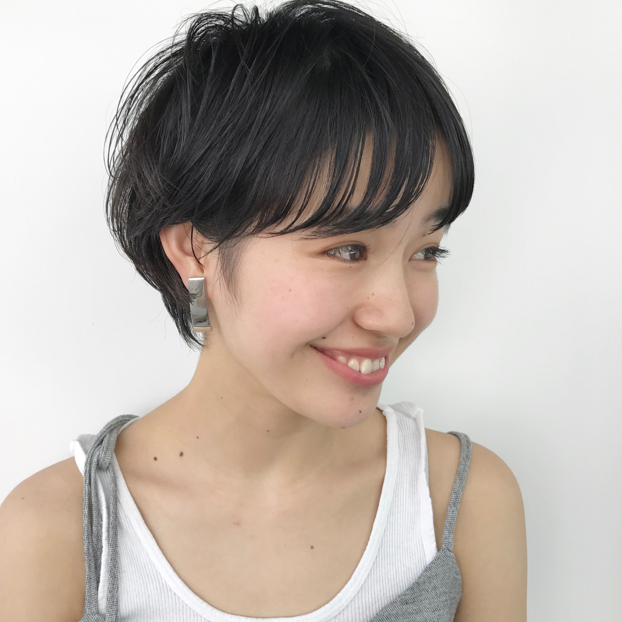 束感 束感バング ショートボブ ナチュラル ヘアスタイルや髪型の写真・画像