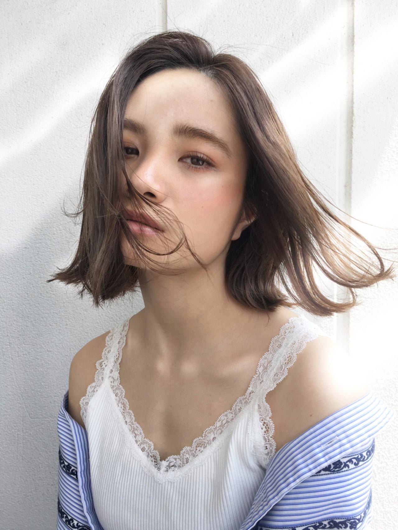 パーマ ボブ リラックス デート ヘアスタイルや髪型の写真・画像
