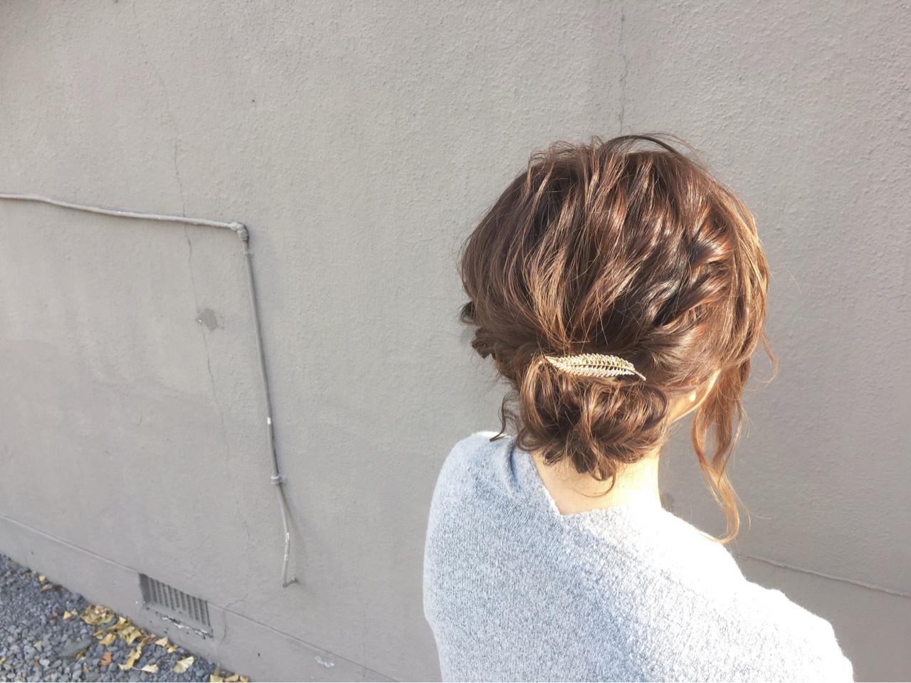 大人女子 ショート メッシーバン ヘアアレンジ ヘアスタイルや髪型の写真・画像