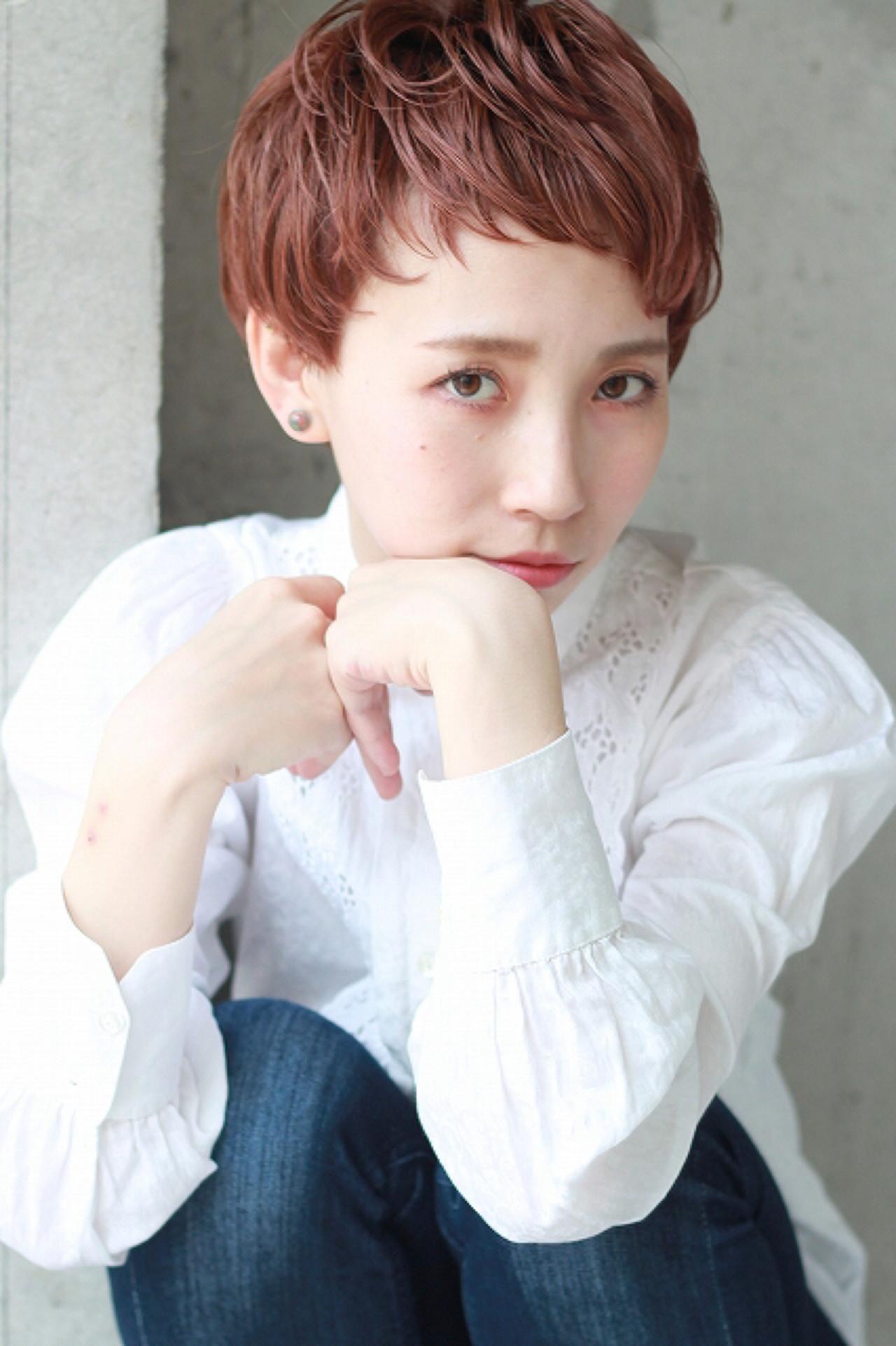 ショート モード デート 外国人風 ヘアスタイルや髪型の写真・画像