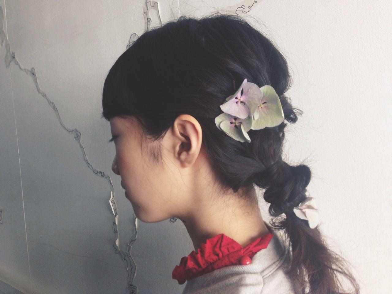 ヘアアレンジ ミディアム パーマ ヘアスタイルや髪型の写真・画像