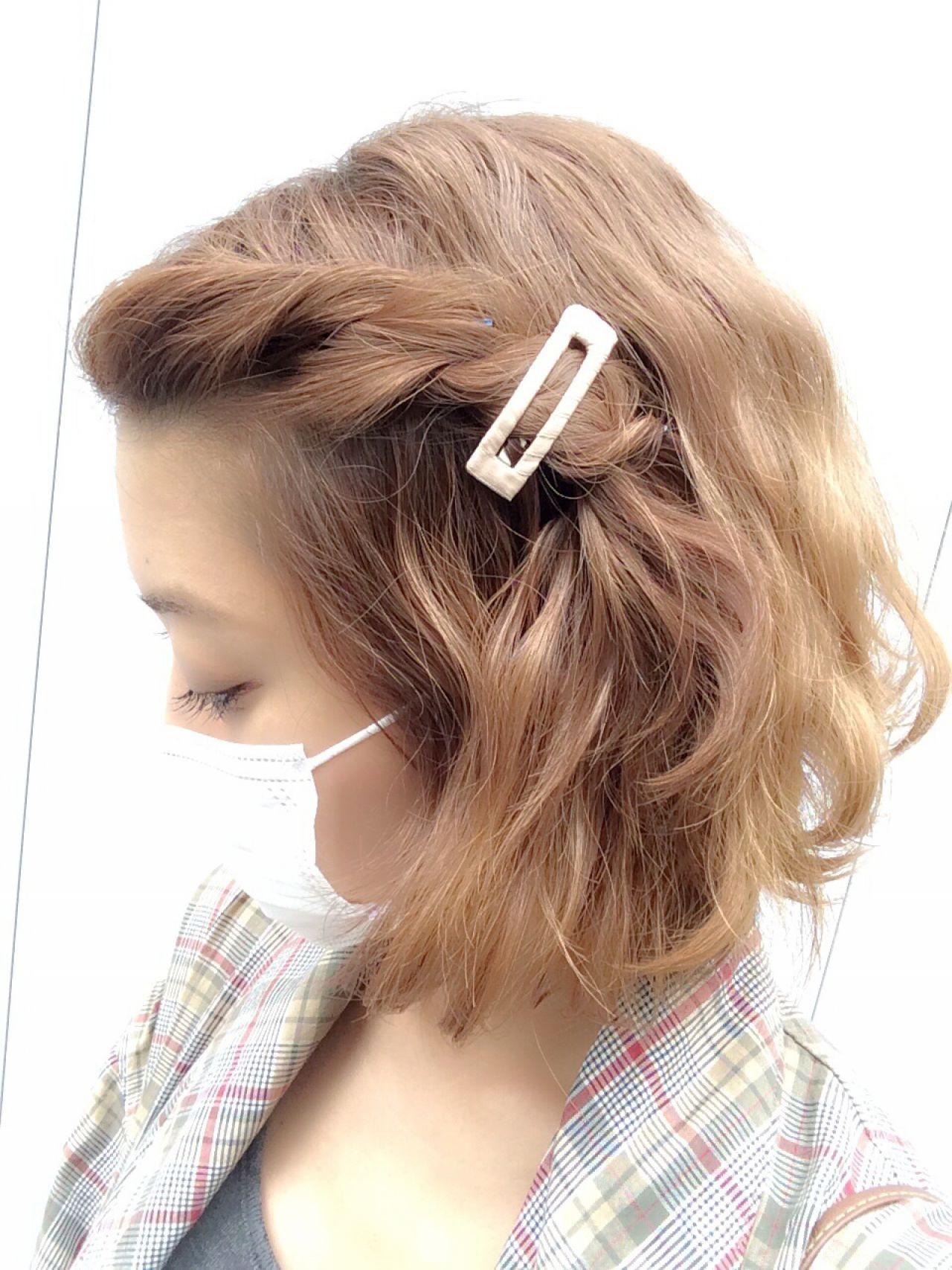 すっきりとまとめて好印象に!前髪アップで印象チェンジ♡ 中川遥