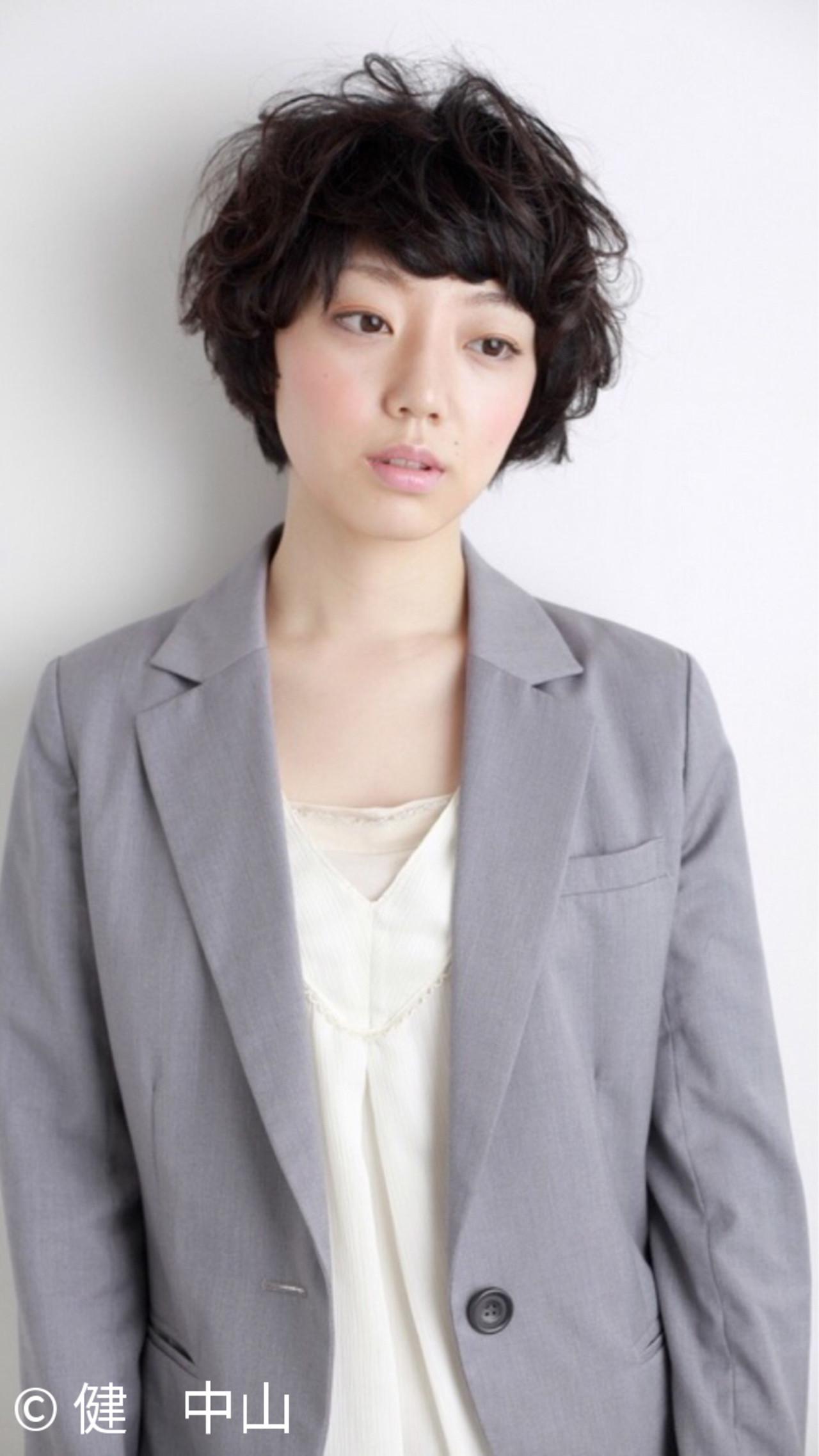 黒髪 ショート ガーリー マッシュ ヘアスタイルや髪型の写真・画像