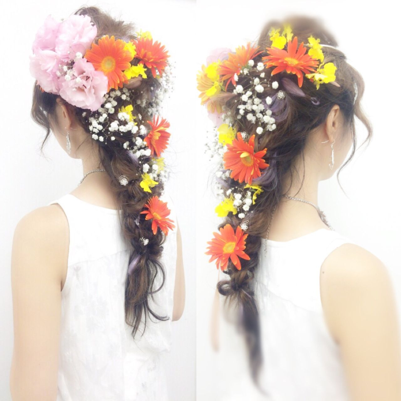 ロング ゆるふわ 花嫁 パーティ ヘアスタイルや髪型の写真・画像