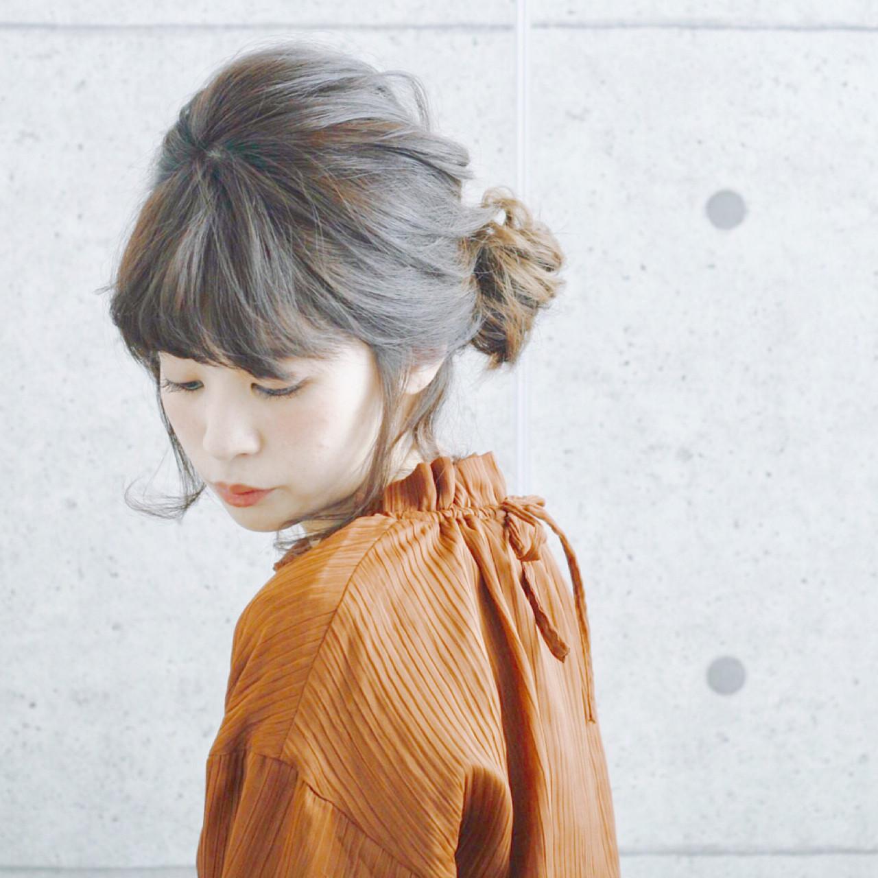 ナチュラル ヘアアレンジ ミディアム 大人女子 ヘアスタイルや髪型の写真・画像