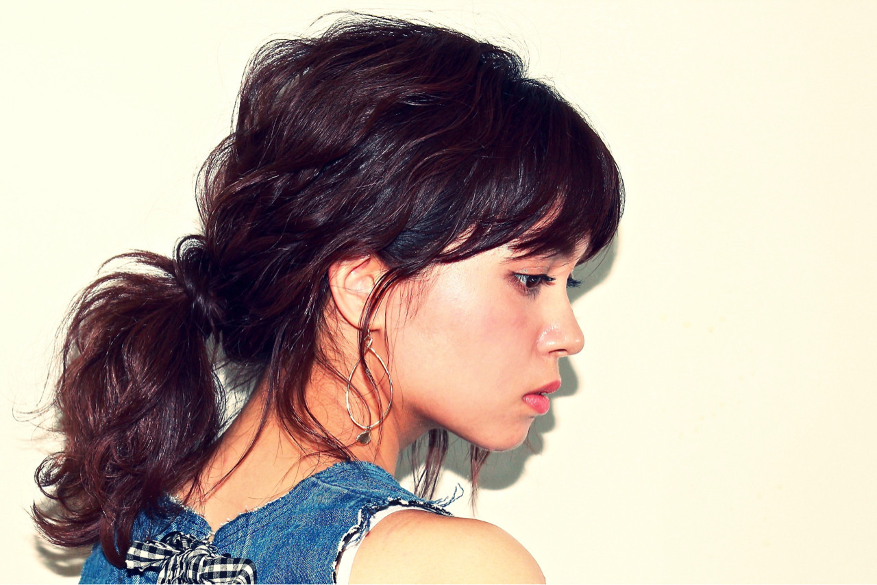 ショート 簡単ヘアアレンジ フェミニン ミディアム ヘアスタイルや髪型の写真・画像