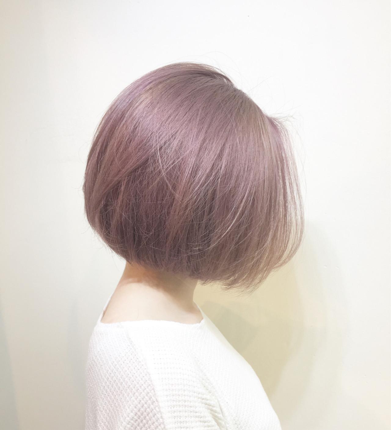 小顔 ミルクティー 大人女子 透明感 ヘアスタイルや髪型の写真・画像