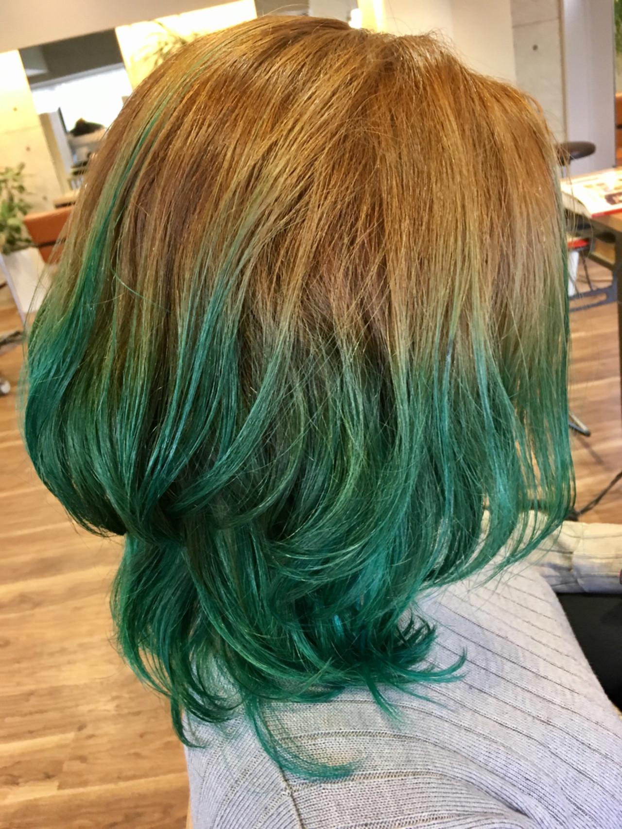 ミディアム カラートリートメント 外国人風カラー モード ヘアスタイルや髪型の写真・画像