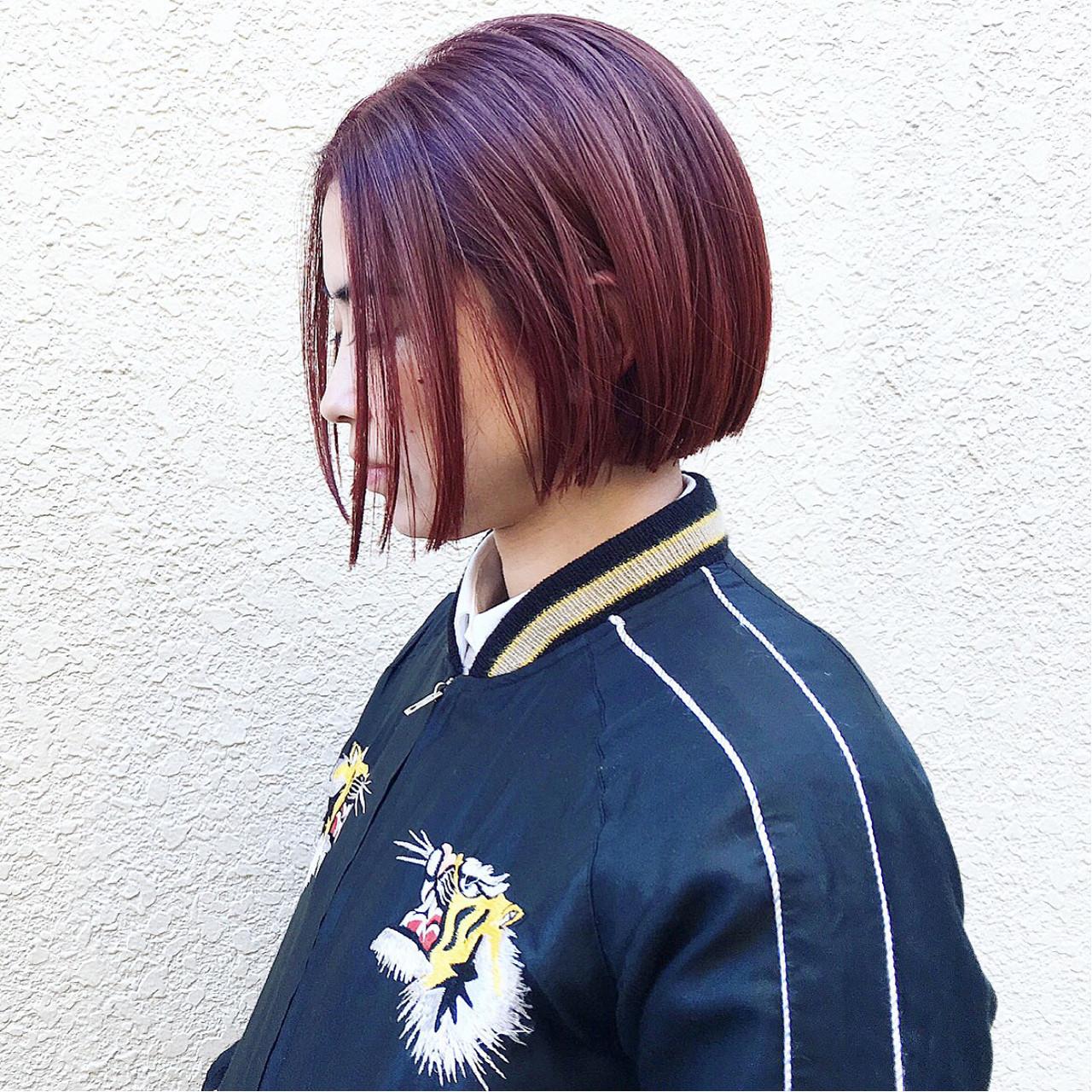 ストリート 外国人風 ボブ ダブルカラー ヘアスタイルや髪型の写真・画像