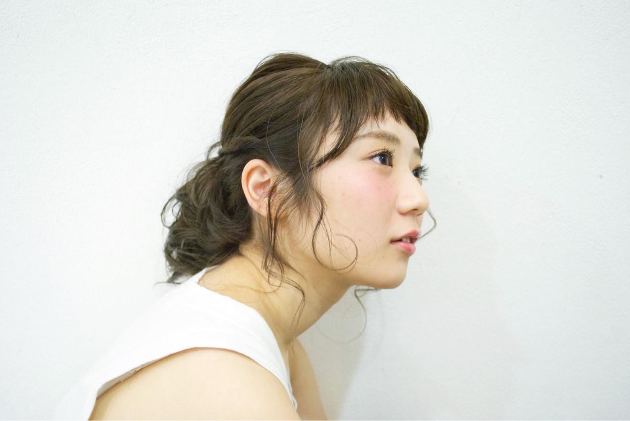 アッシュグレージュ ミディアム ヘアアレンジ ハイライト ヘアスタイルや髪型の写真・画像