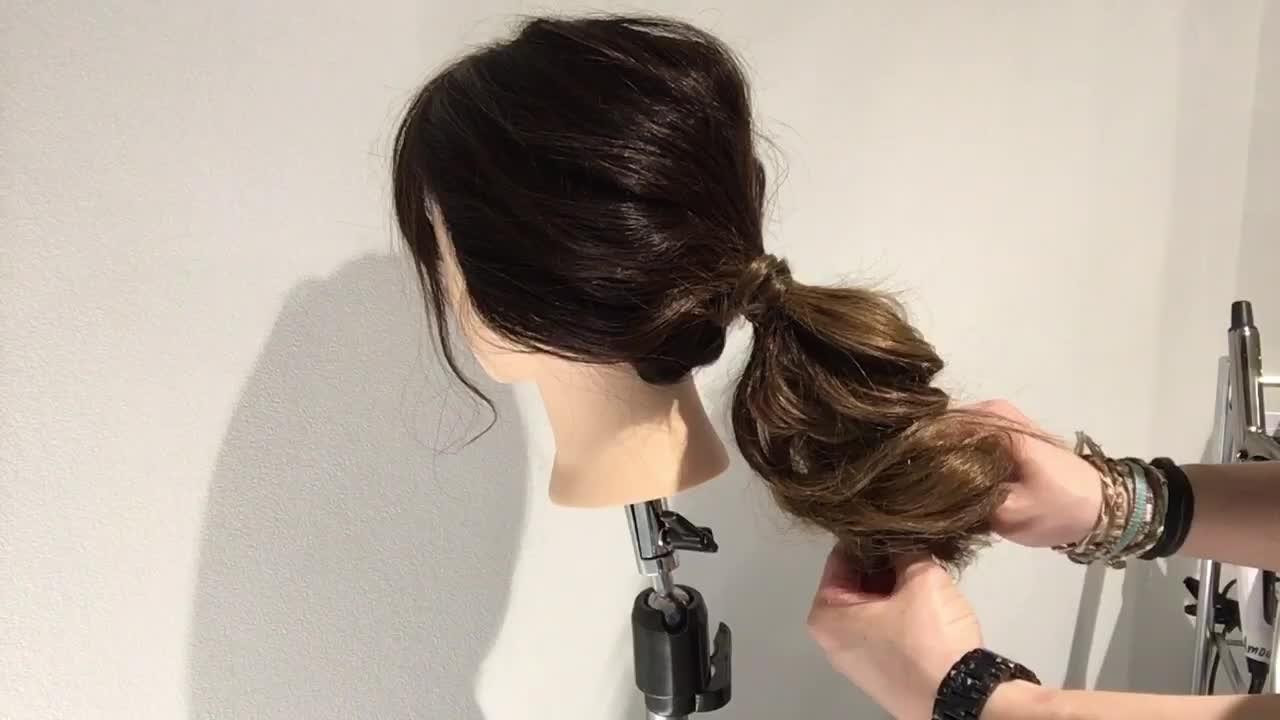 ショート 簡単ヘアアレンジ ナチュラル 時短 ヘアスタイルや髪型の写真・画像