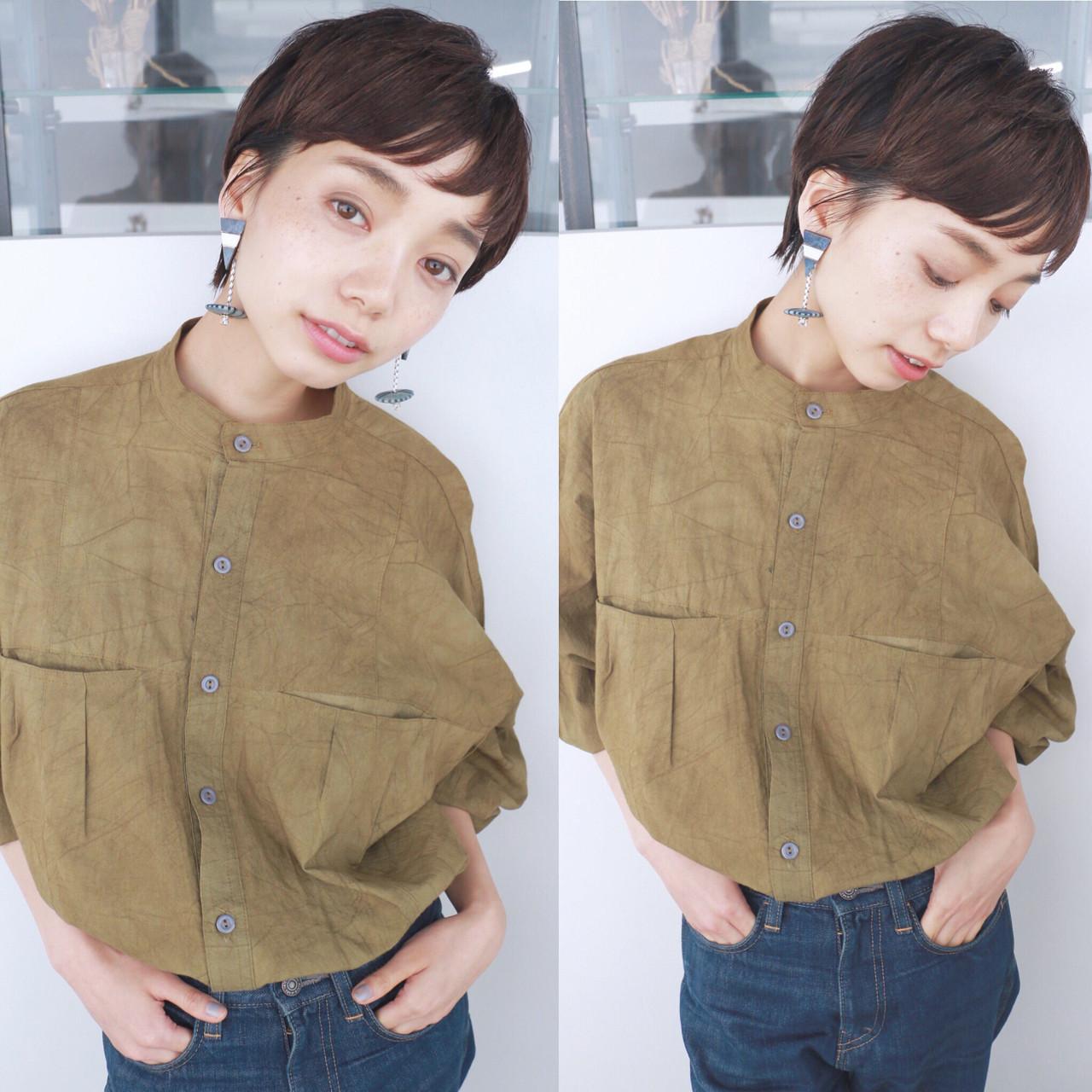 ベリーショート ナチュラル ショート 大人かわいい ヘアスタイルや髪型の写真・画像