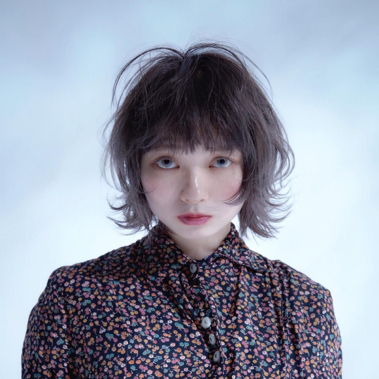 アッシュ ローライト ハイライト ガーリー ヘアスタイルや髪型の写真・画像