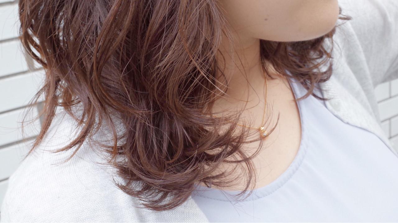 コンサバ 外国人風 ウェーブ パーマ ヘアスタイルや髪型の写真・画像
