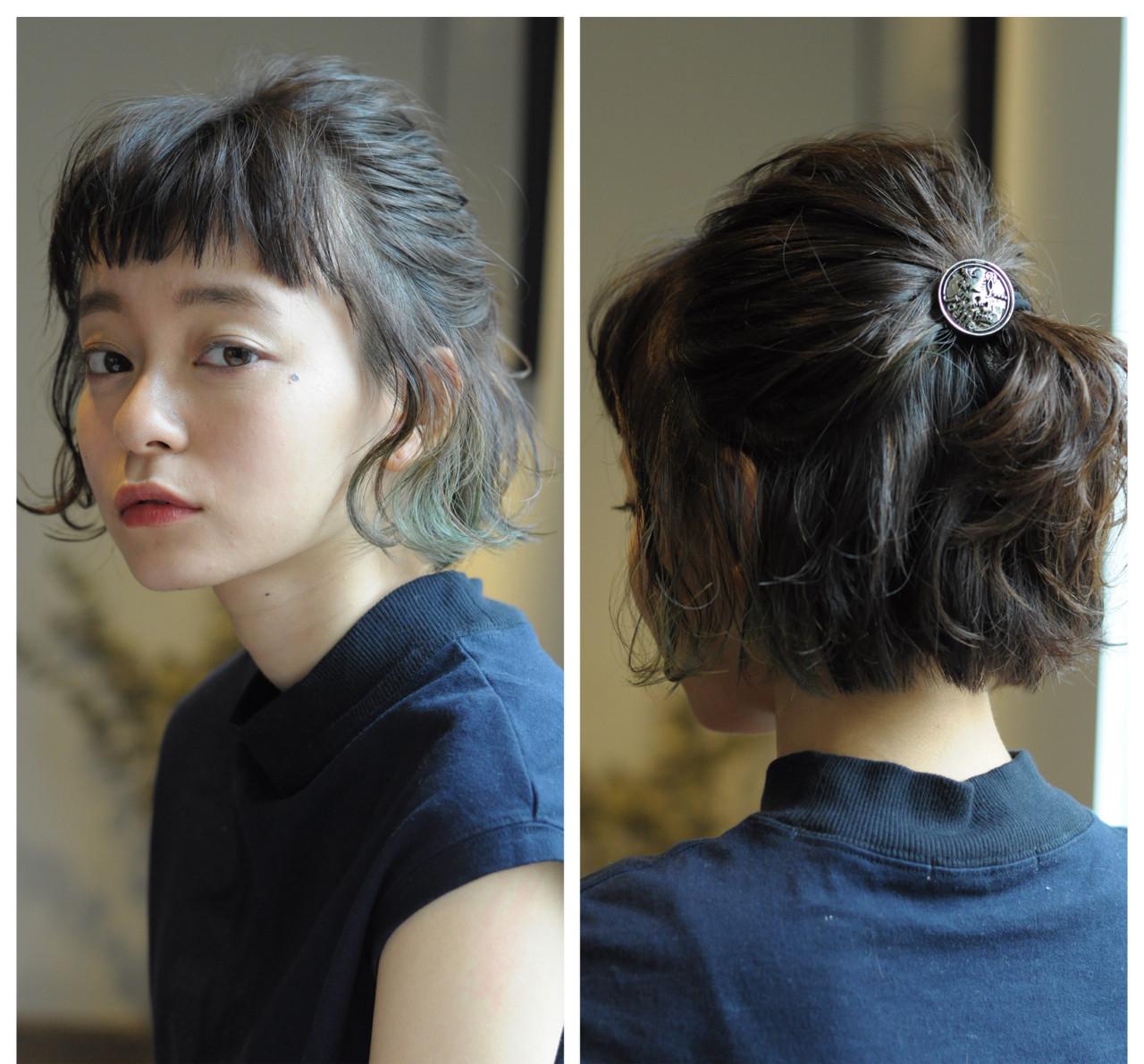 お団子 ヘアアレンジ ボブ 簡単ヘアアレンジ ヘアスタイルや髪型の写真・画像