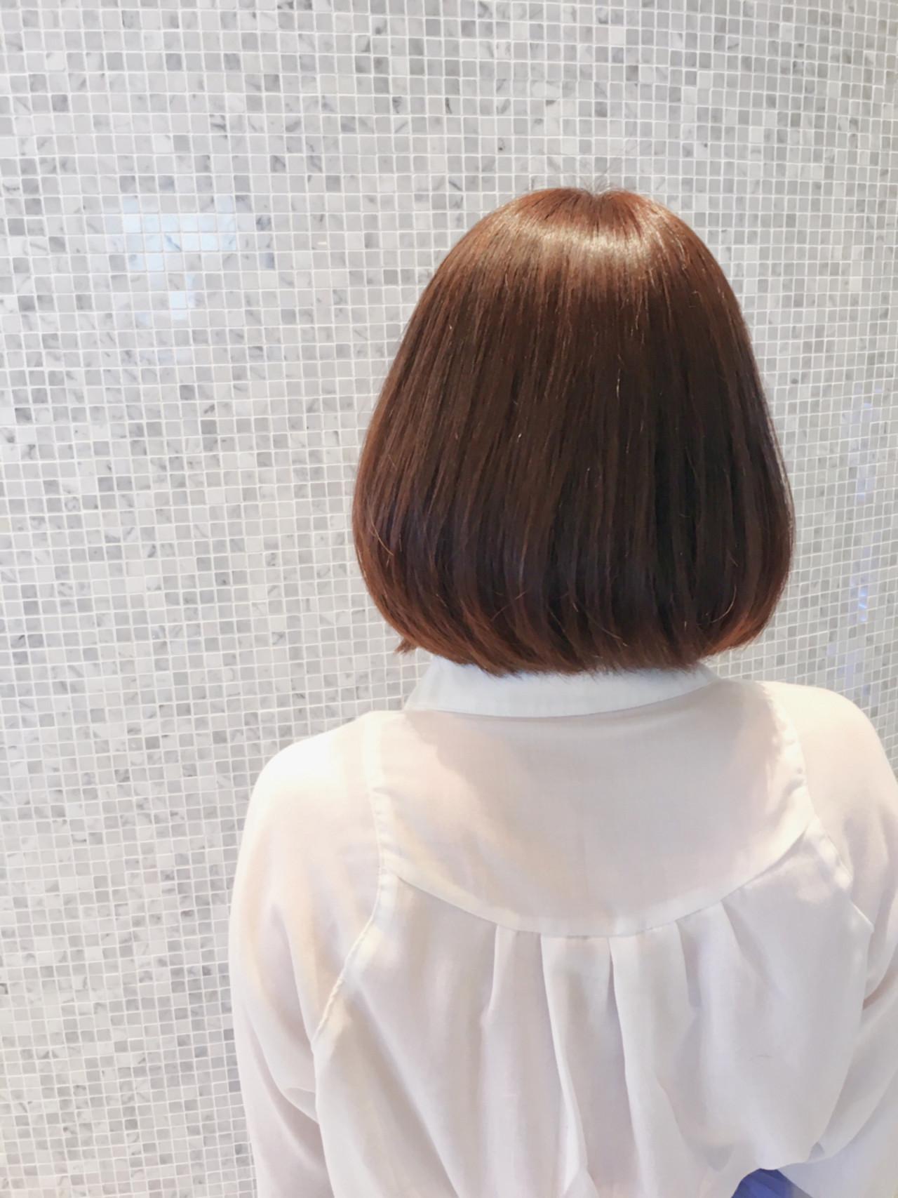 ナチュラル ワンカール 簡単 ボブ ヘアスタイルや髪型の写真・画像