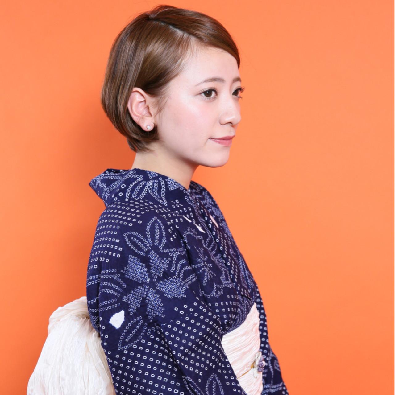 【髪型カタログ】着物に似合うショートのおすすめ髪型アレンジ特集 竹下 ひかり