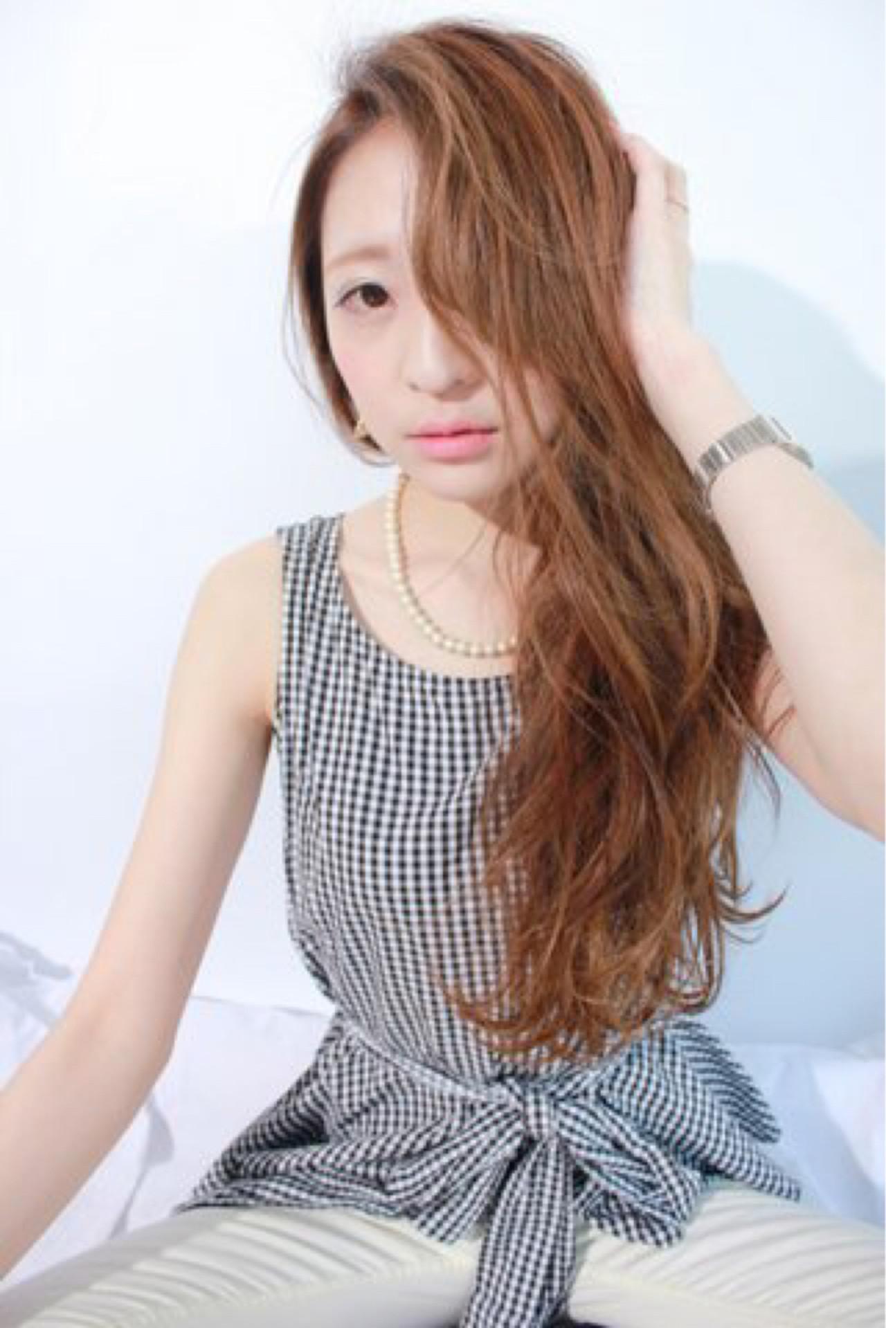 ロング 女子会 上品 リラックス ヘアスタイルや髪型の写真・画像