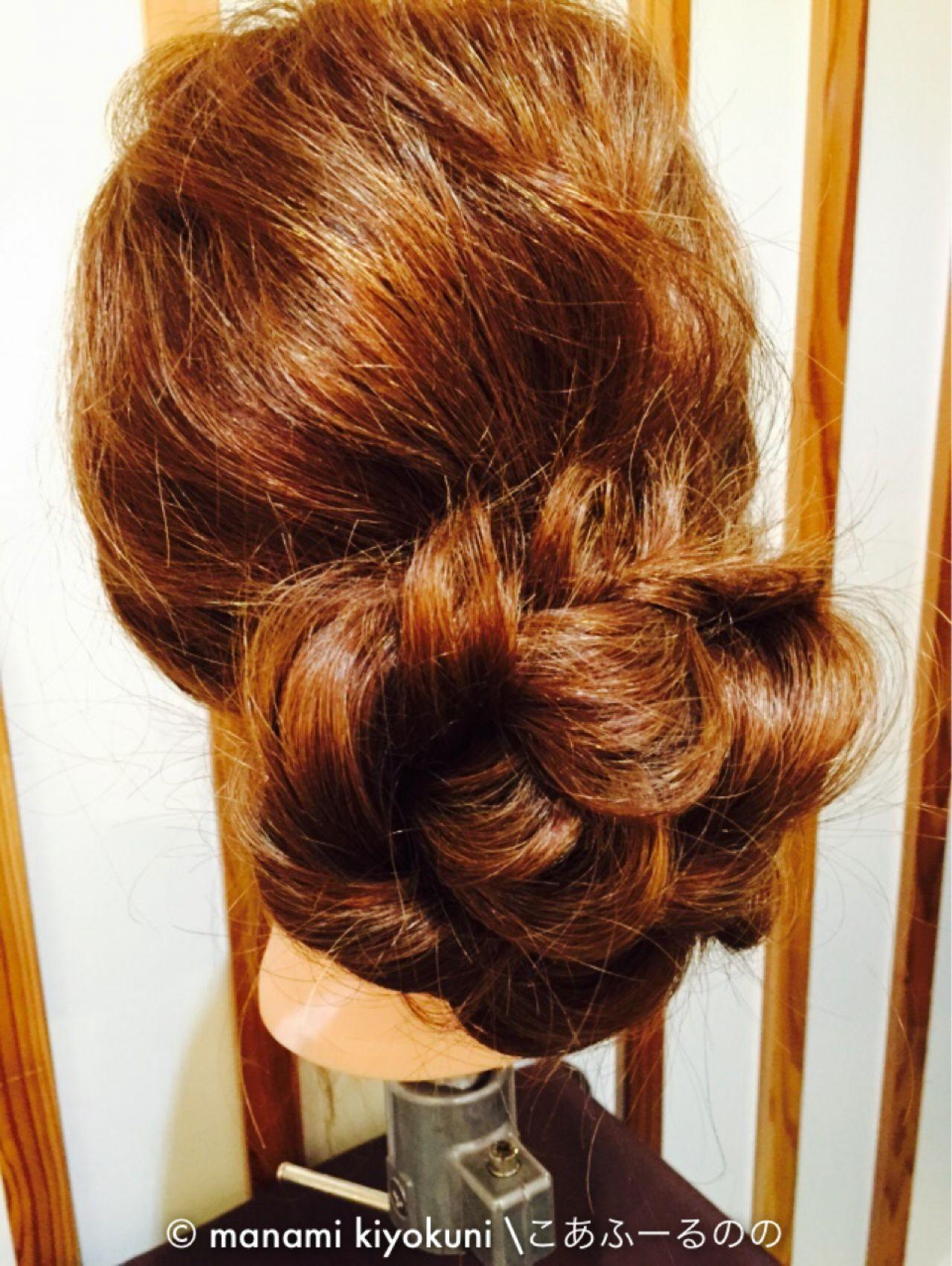 大人かわいい フェミニン ヘアアレンジ お団子 ヘアスタイルや髪型の写真・画像