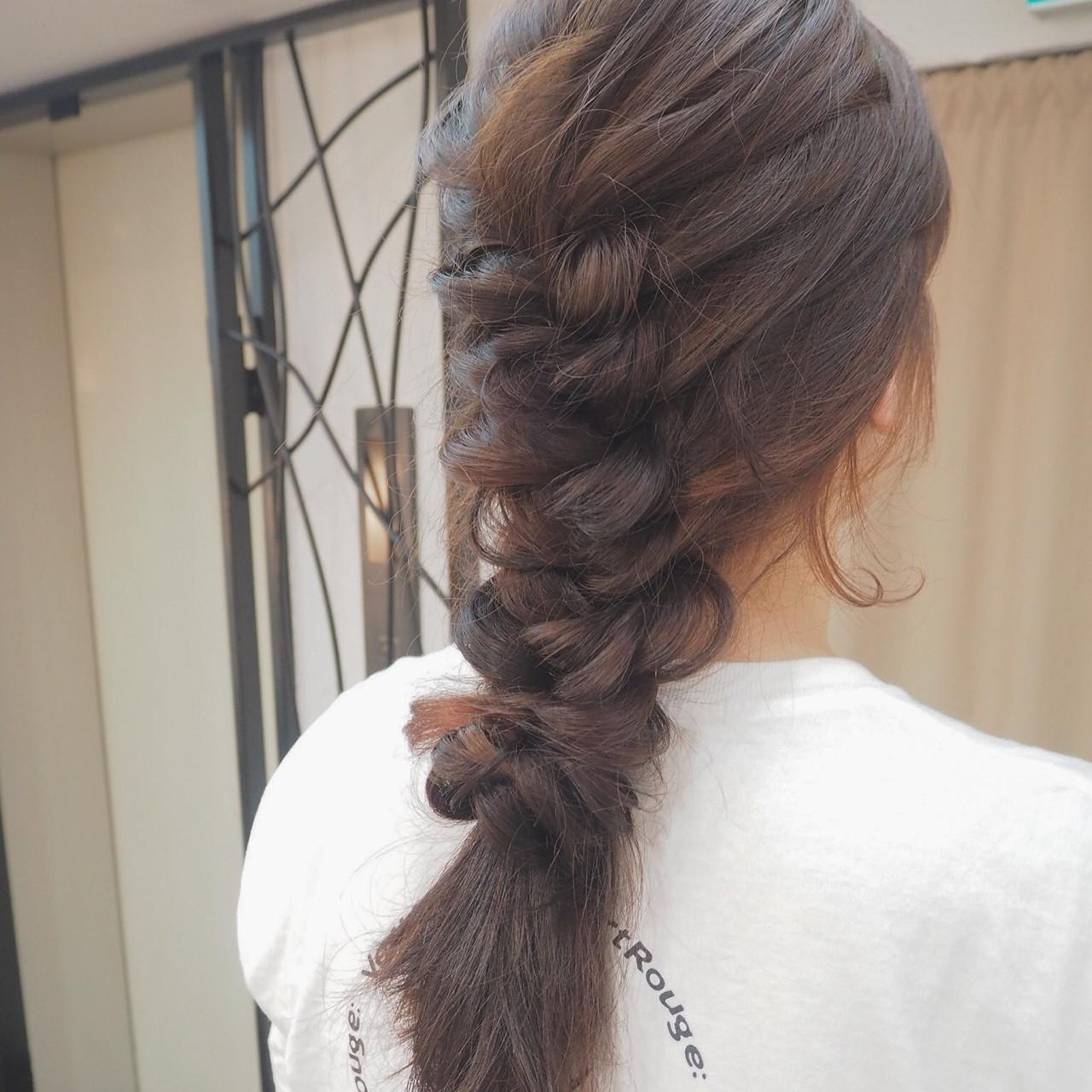 ロングヘアのまとめ髪を短時間で可愛く♡7DAYSアレンジカタログ 宮迫 真美