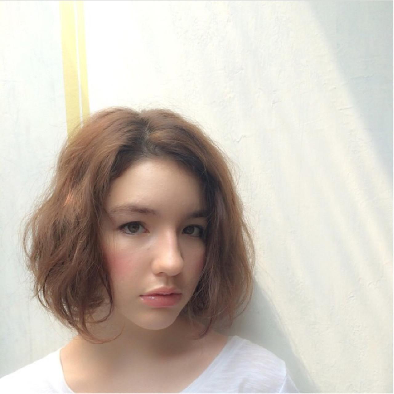 ストリート リラックス ボブ 外国人風 ヘアスタイルや髪型の写真・画像