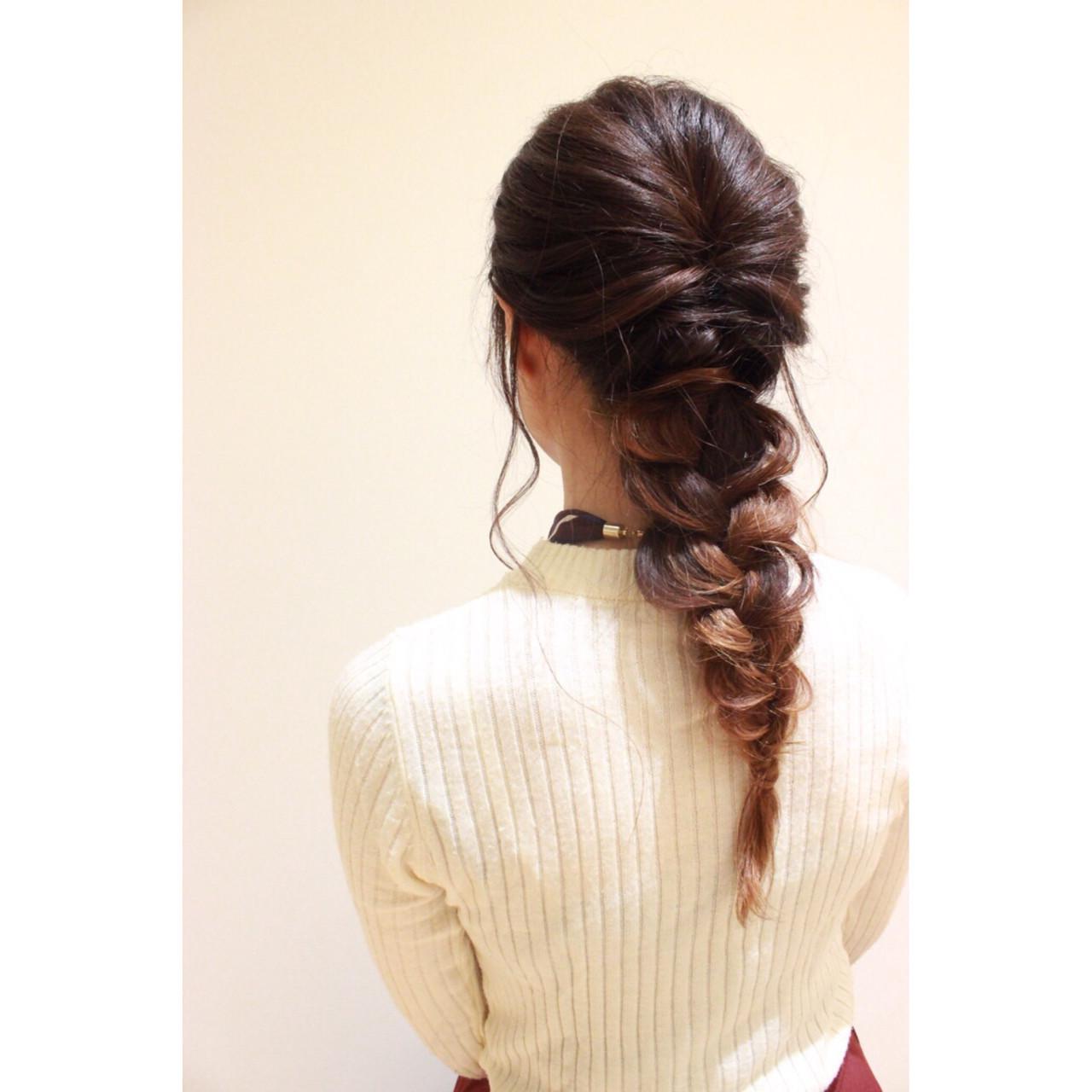 結婚式 ヘアアレンジ ロング ガーリー ヘアスタイルや髪型の写真・画像