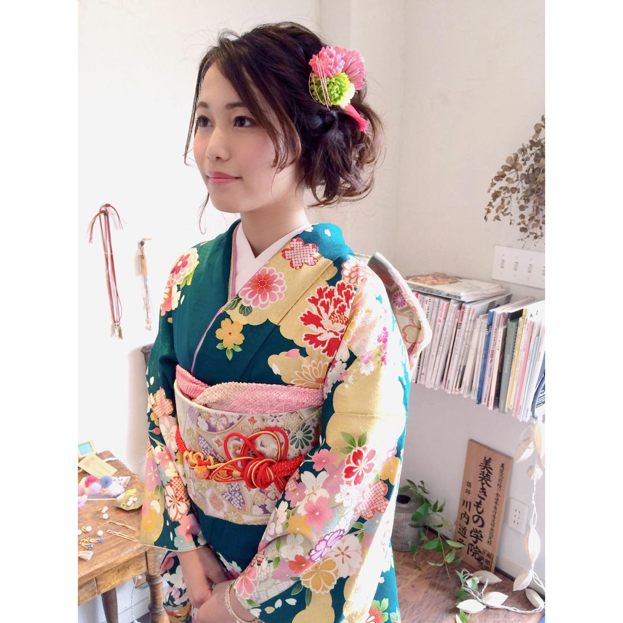 【髪型カタログ】着物に似合うショートのおすすめ髪型アレンジ特集 川内道子