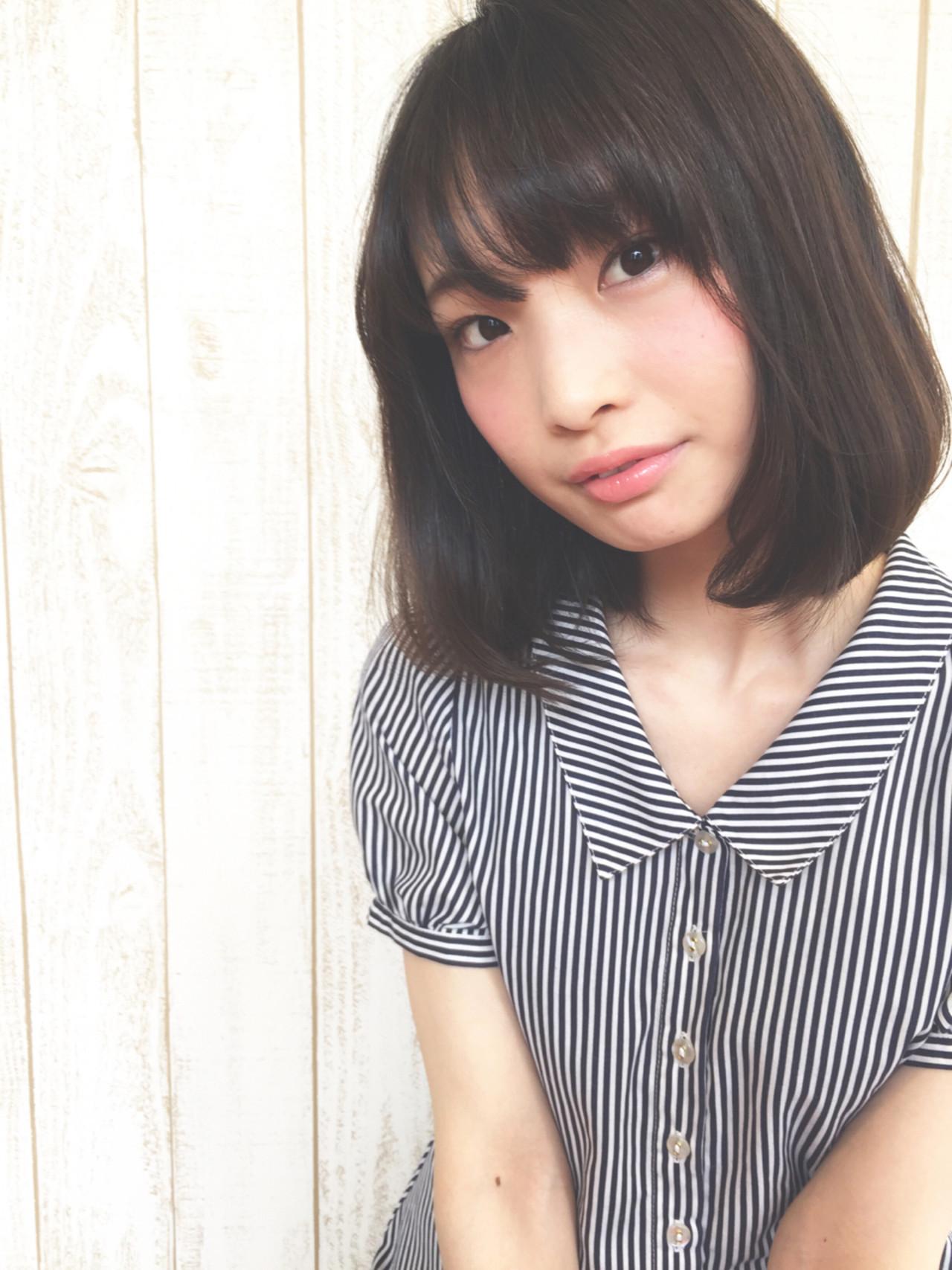 大人女子 透明感 ボブ グラデーションカラー ヘアスタイルや髪型の写真・画像