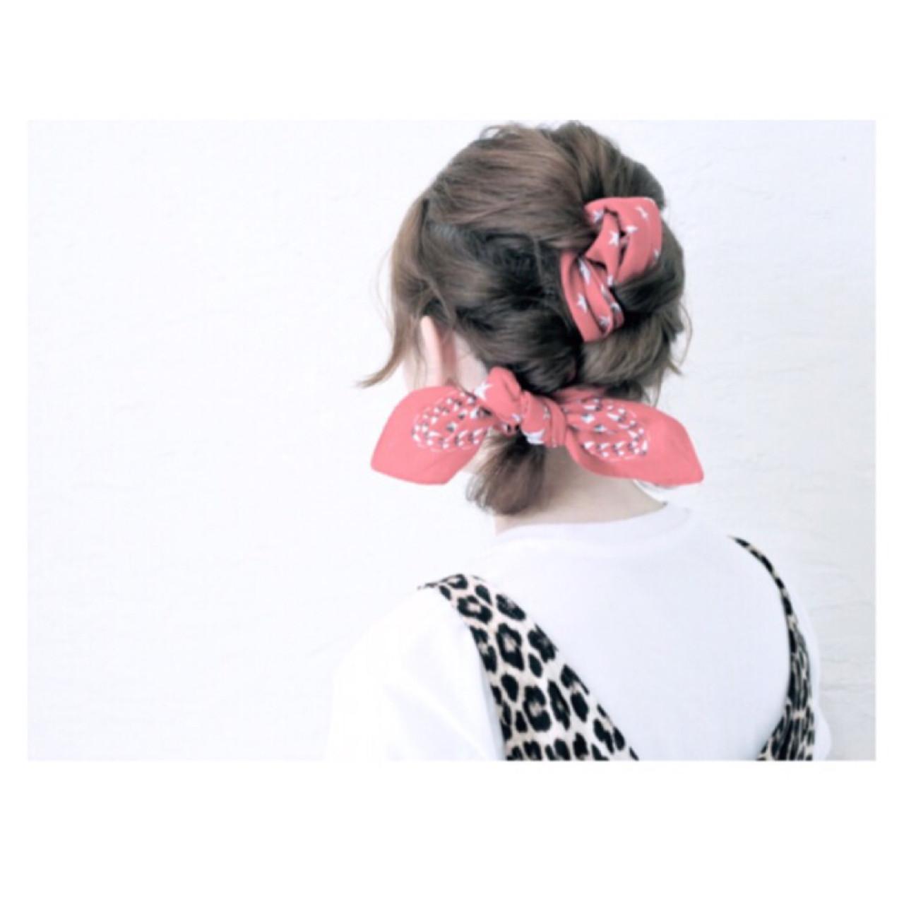 バンダナを使った髪型で可愛さUP♡とっておきアレンジ特集 原田直美