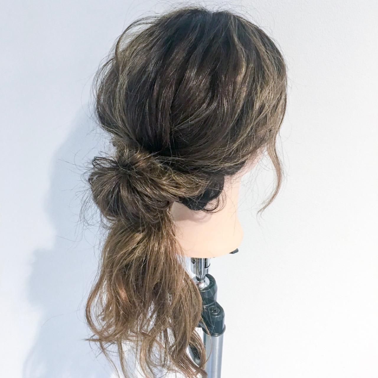 セミロング ルーズ フェミニン 女子会 ヘアスタイルや髪型の写真・画像