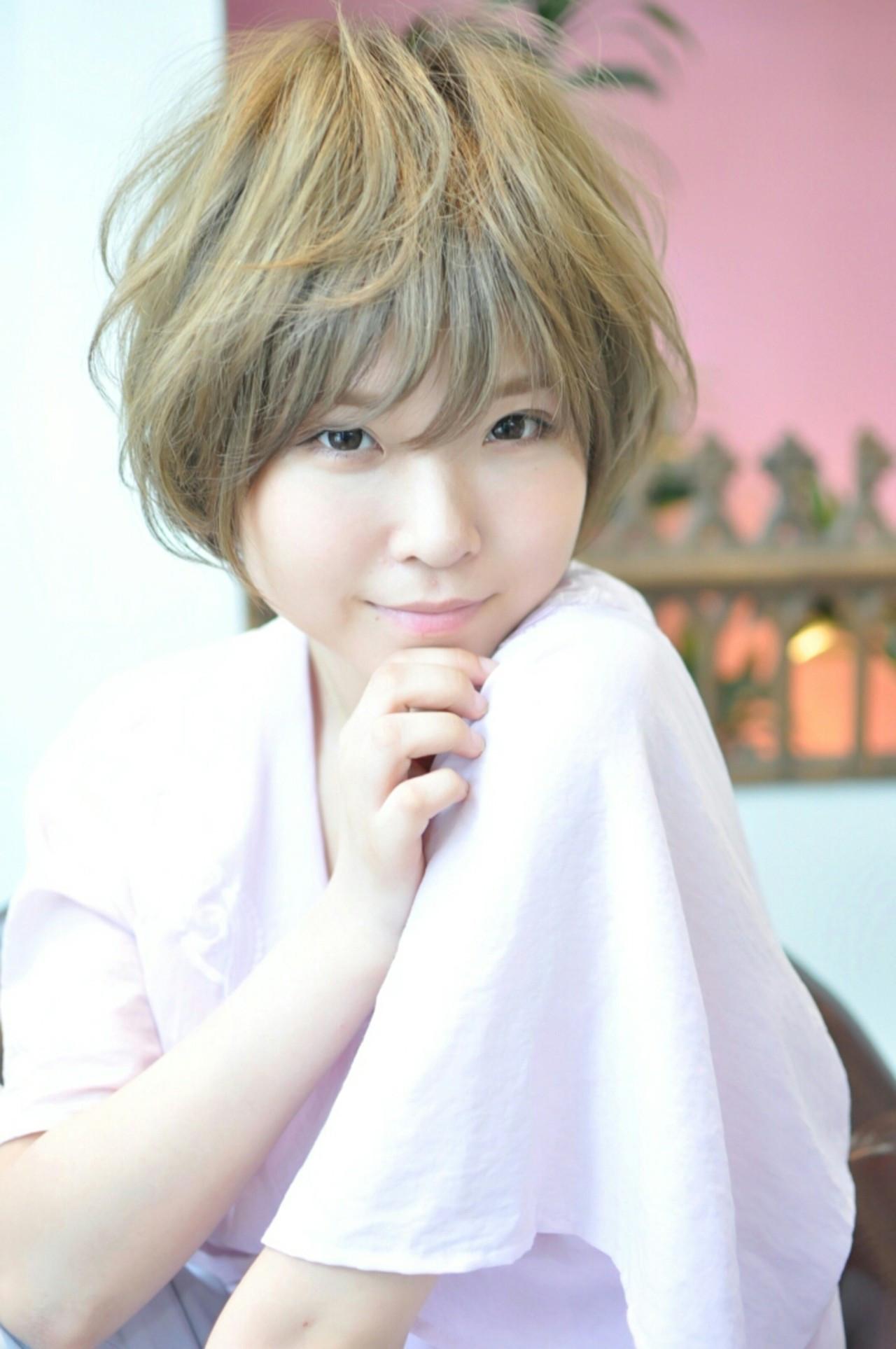 ショート 大人かわいい 外国人風 ガーリー ヘアスタイルや髪型の写真・画像
