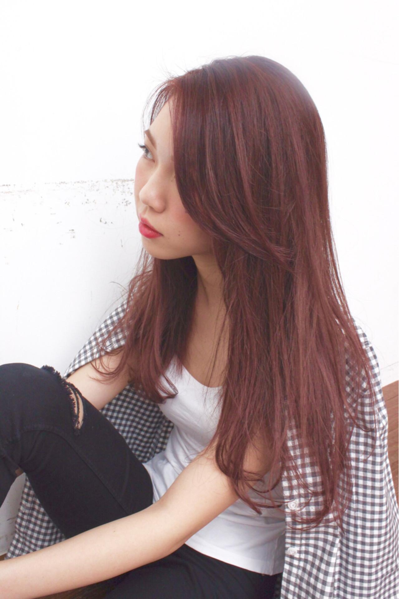 コーラルピンクが大人かわいい!旬のヘアカラーで女子力アップしよう 福見 康平
